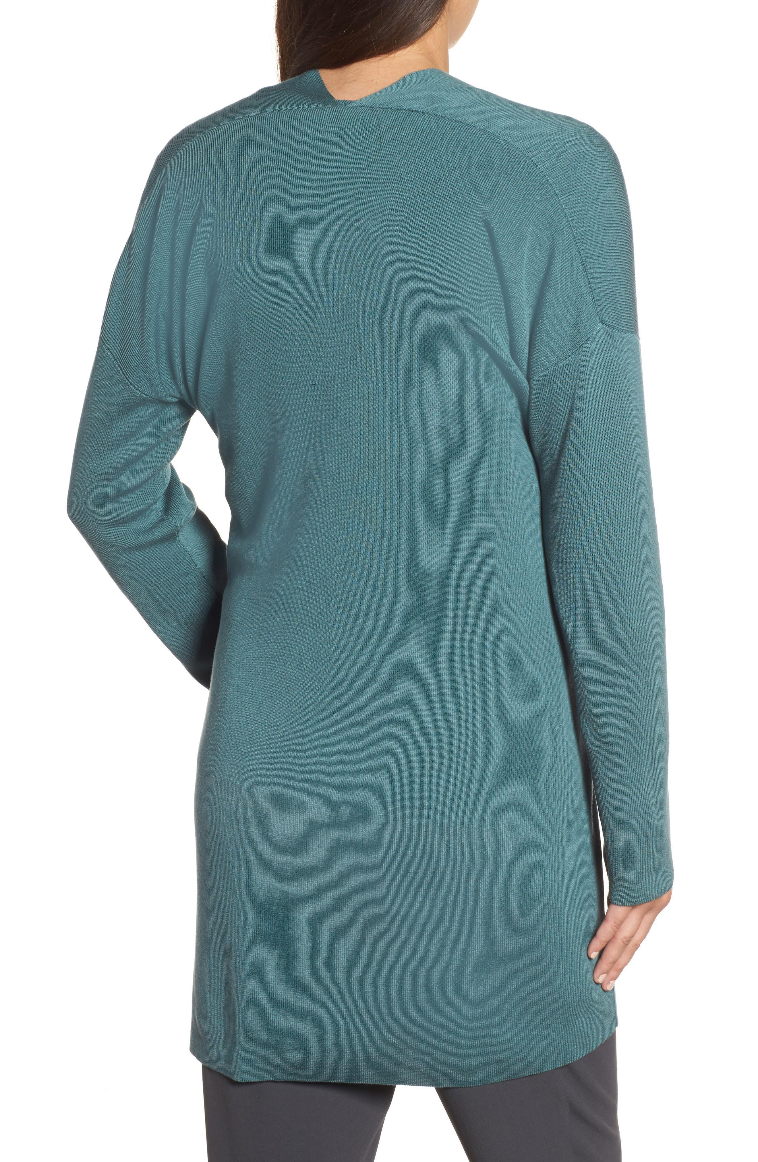 Alternate Image 2  - Eileen Fisher Long Belted Cardigan (Regular & Petite)
