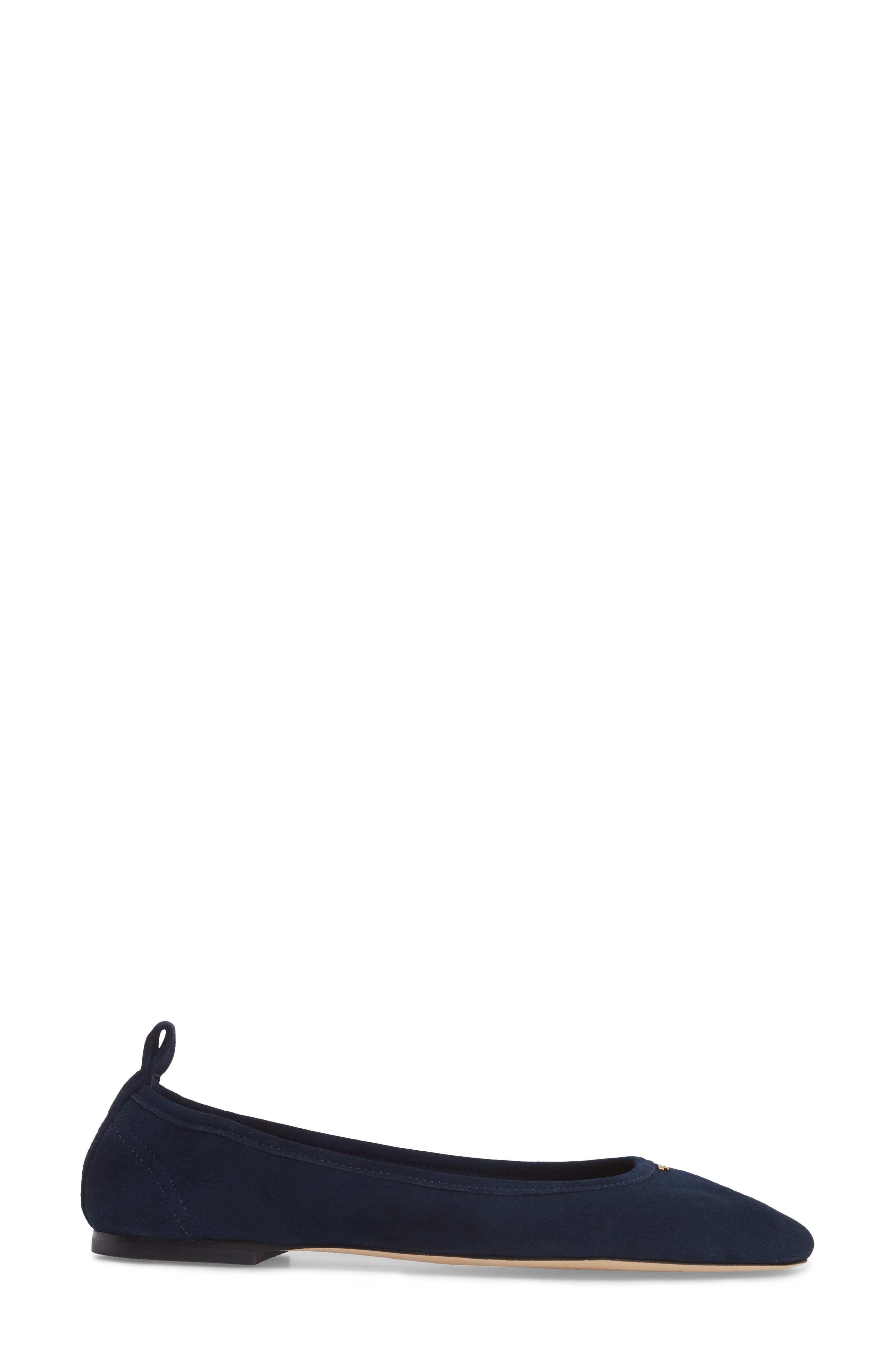 Therese Ballet Flat,                             Alternate thumbnail 3, color,                             Royal Navy