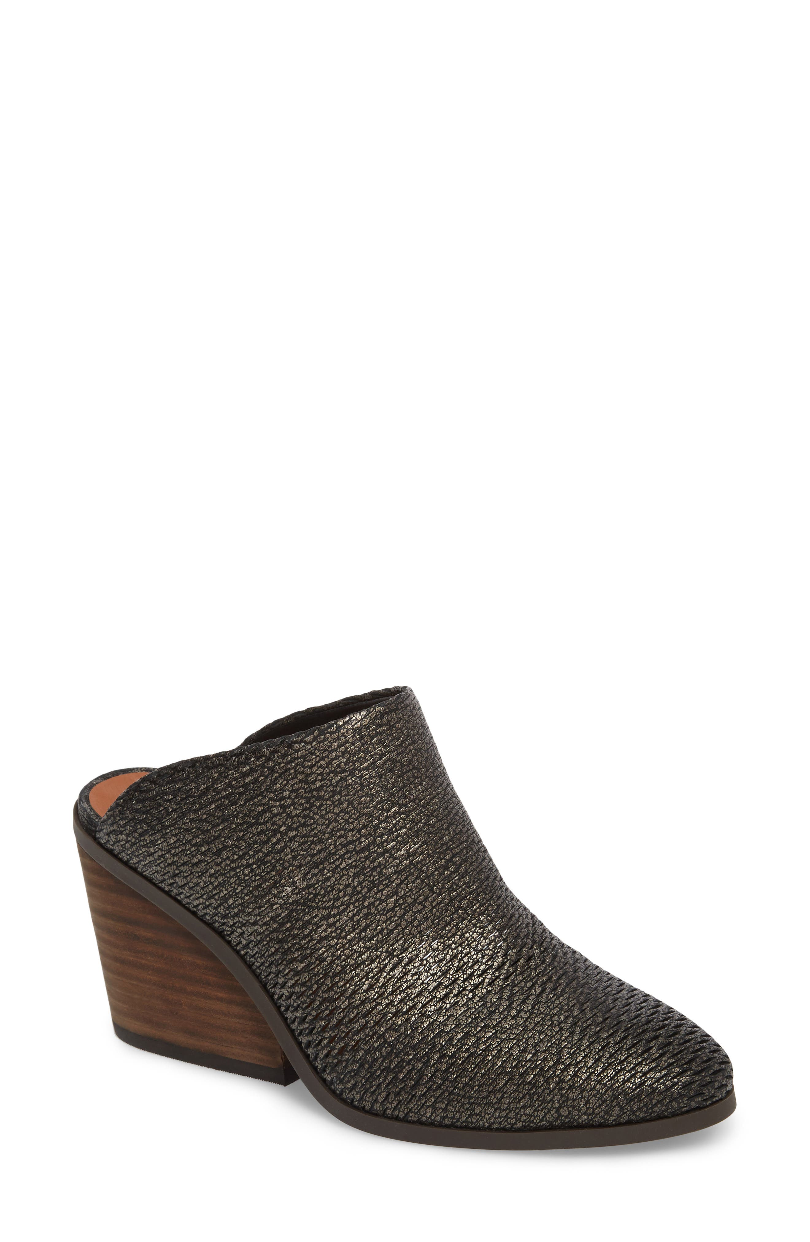 Larsson Mule,                         Main,                         color, Black Leather