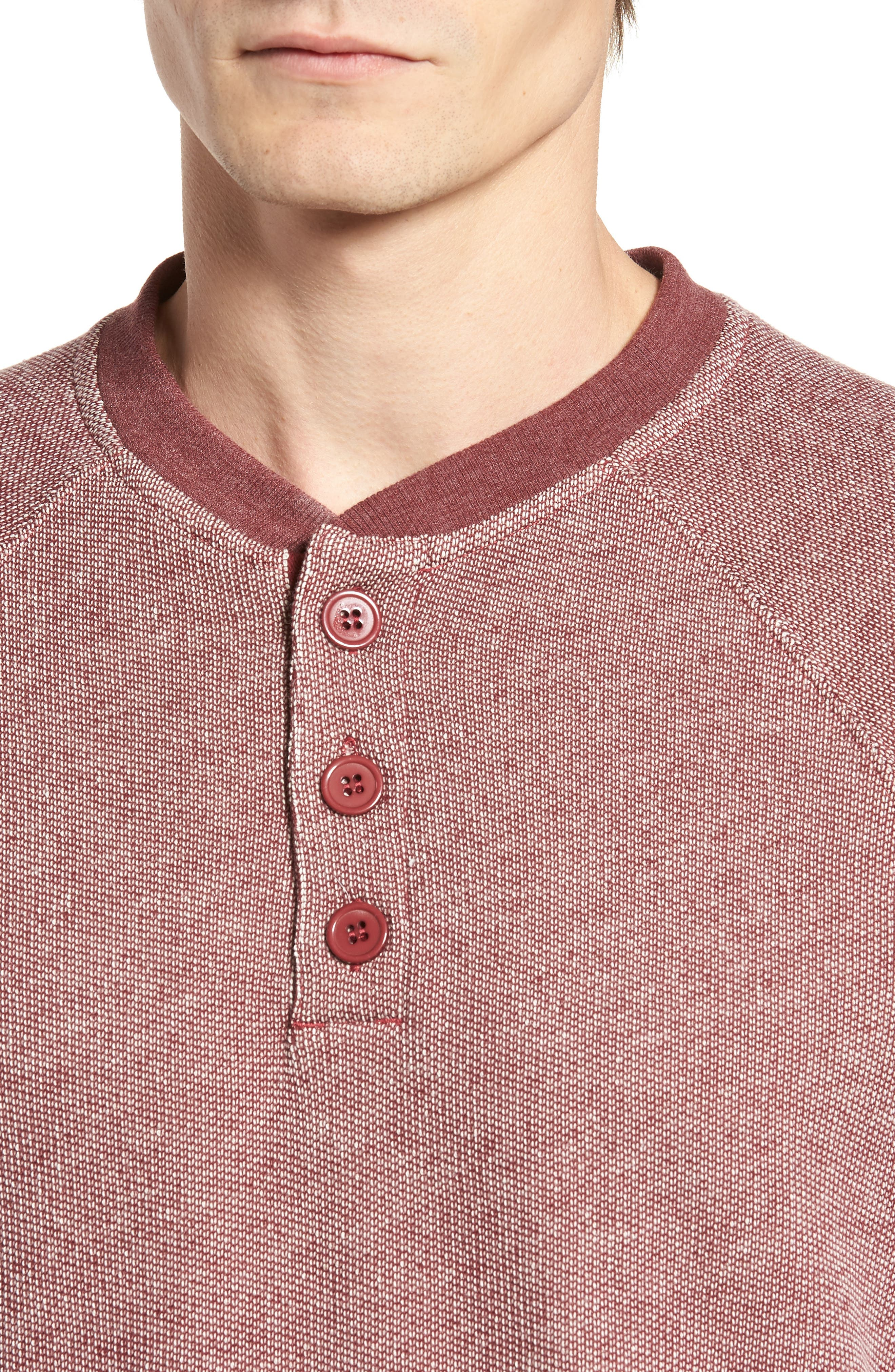 Capo Henley Pullover,                             Alternate thumbnail 4, color,                             Tawny Port