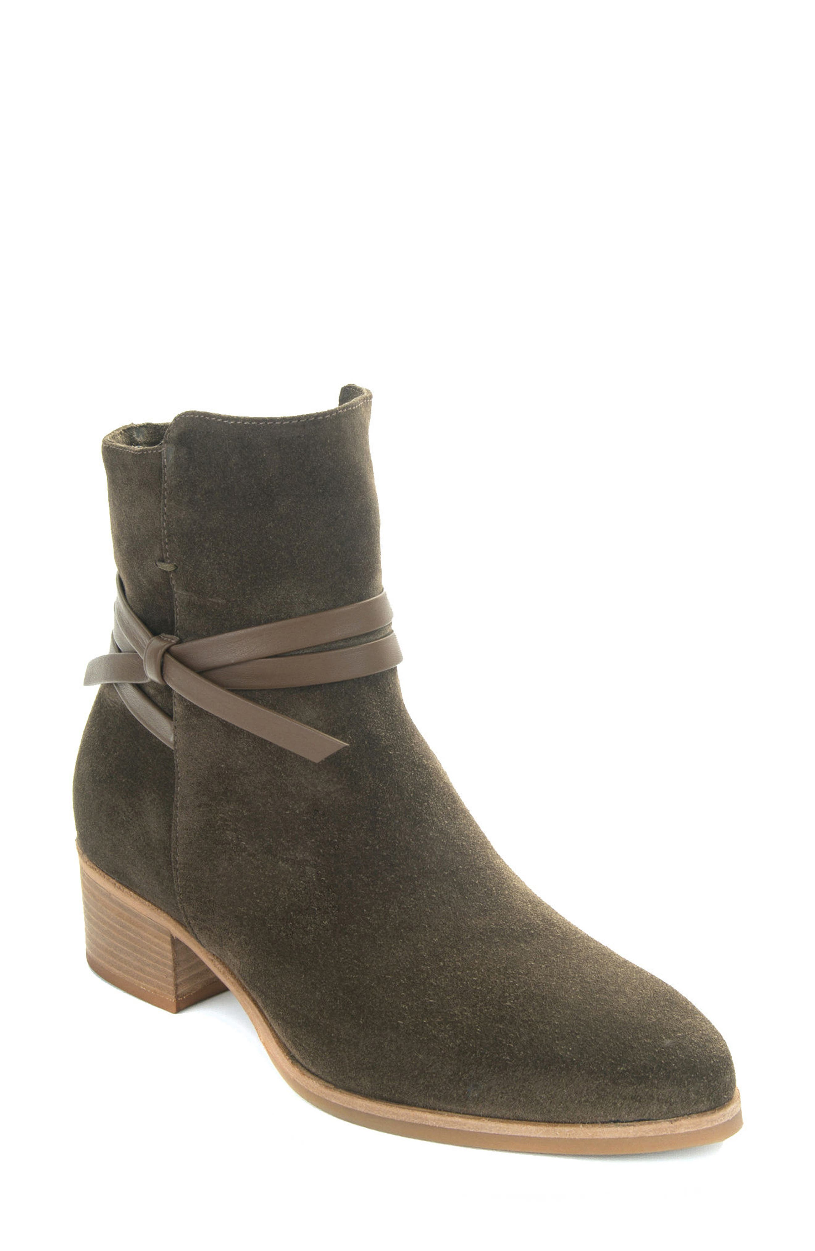 Donata Water-Resistant Bootie,                         Main,                         color, Militare/ Green