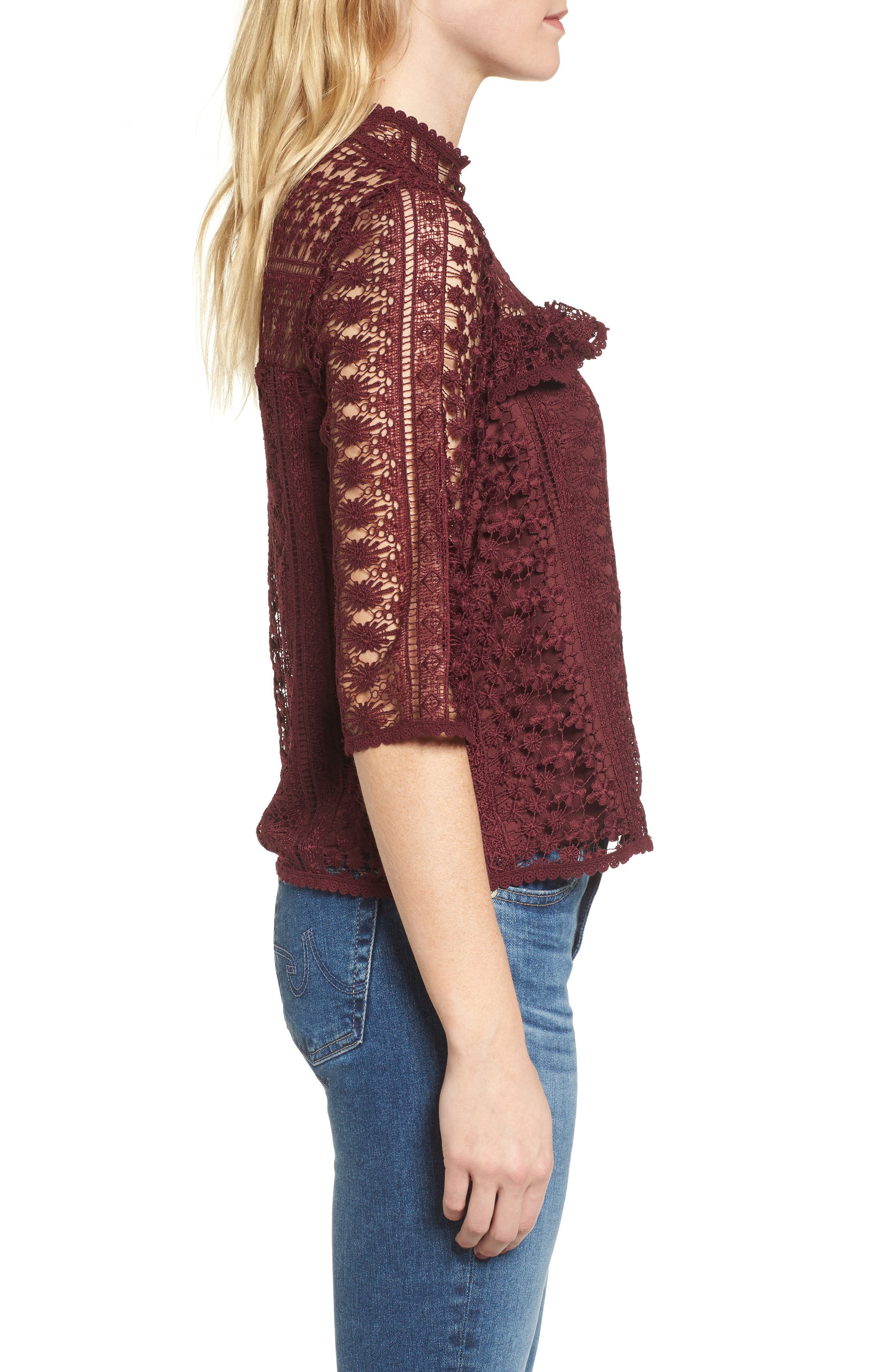 Alternate Image 3  - cupcakes and cashmere Kebecka Lace Top