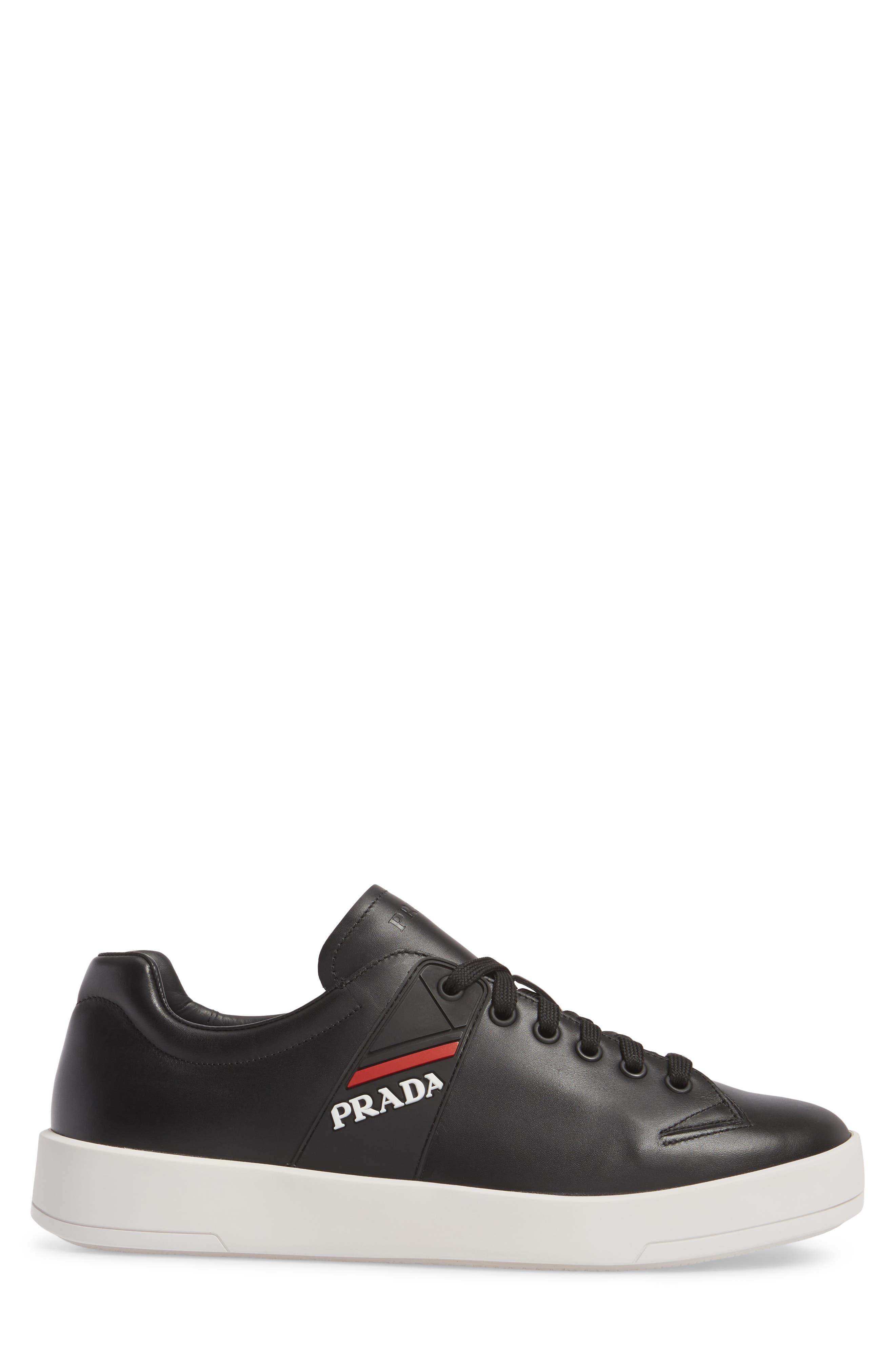 Linea Rossa Sneaker,                             Alternate thumbnail 3, color,                             Nero Bianco