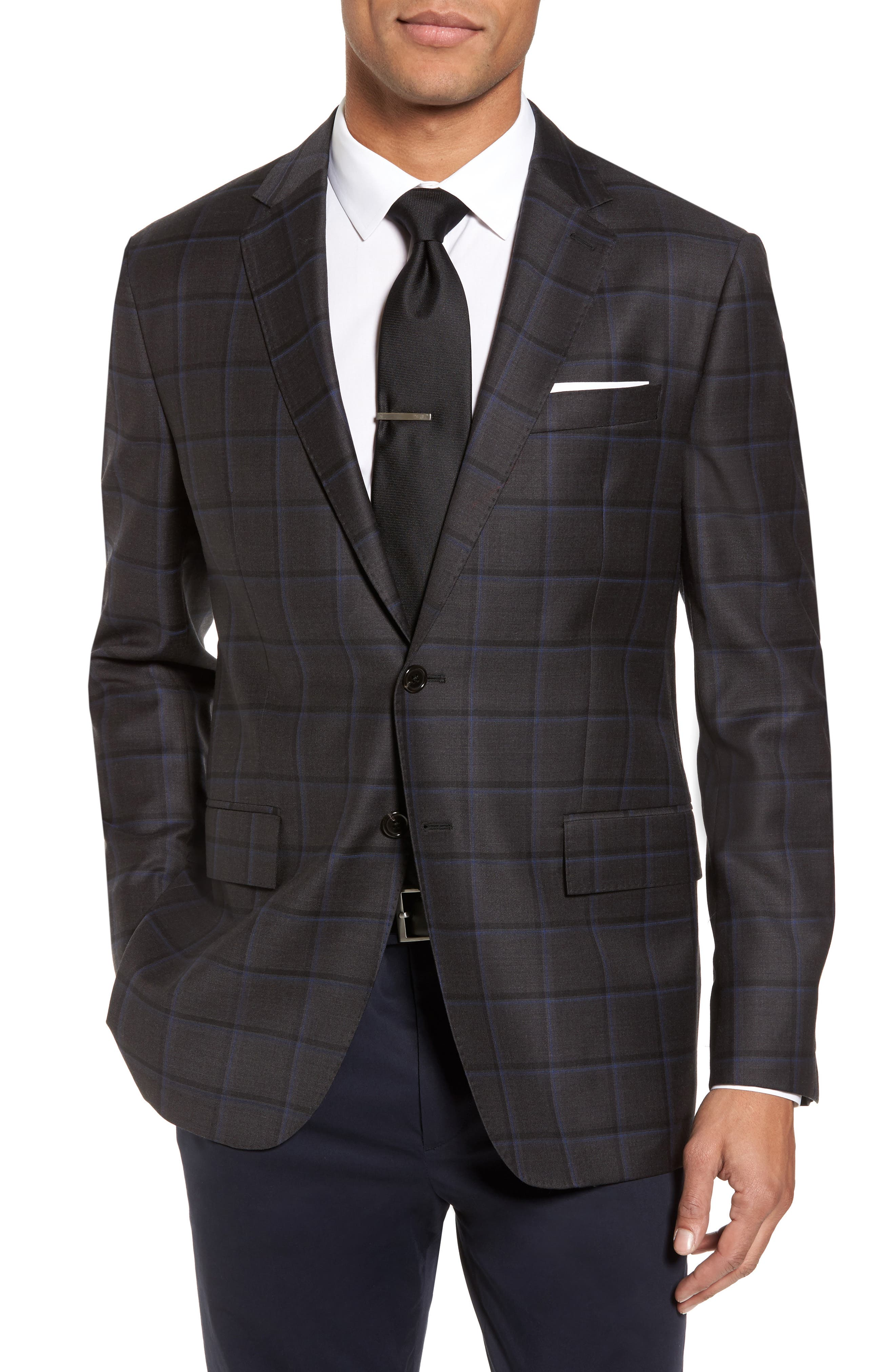 Todd Snyder White Label Trim Fit Windowpane Wool Sport Coat
