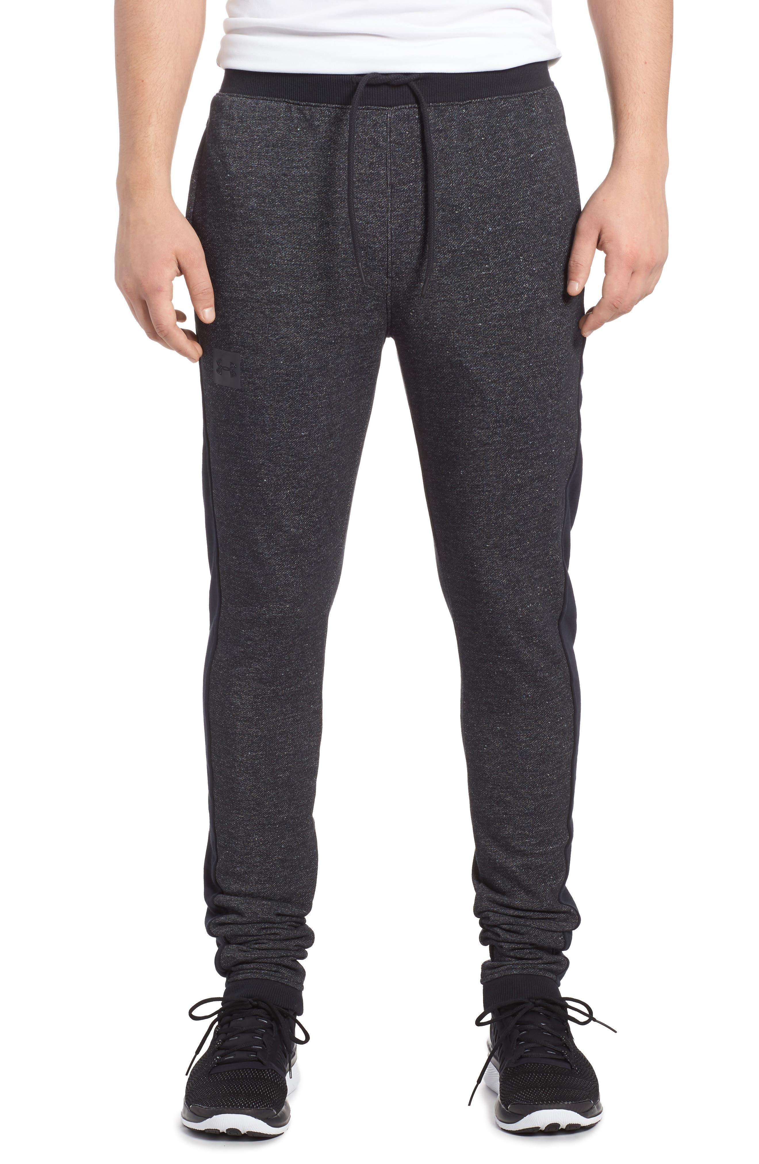 Sportstyle Fitted Fleece Leggings,                         Main,                         color, Black