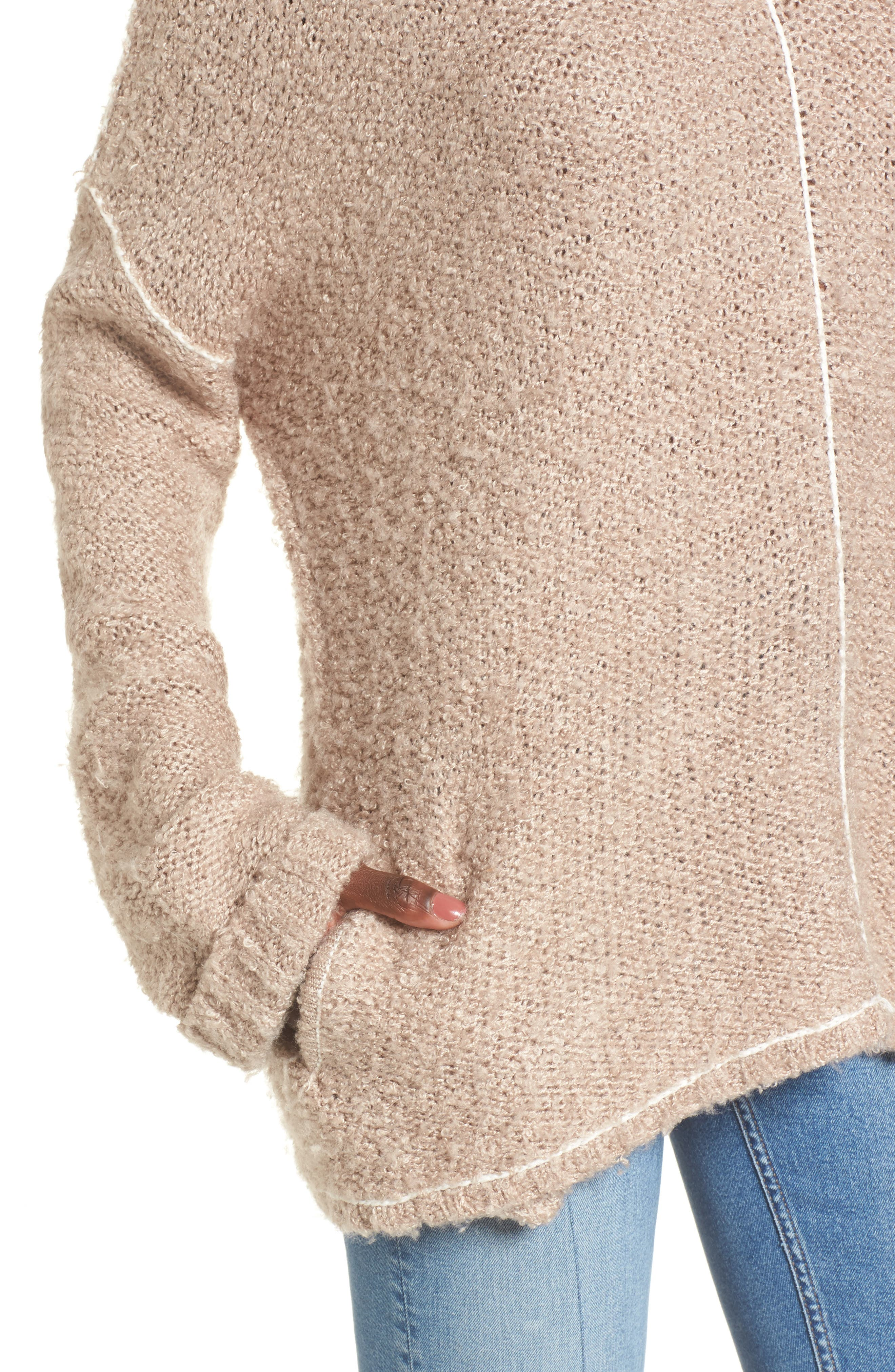 Voyage Knit Sweater,                             Alternate thumbnail 4, color,                             Mocha