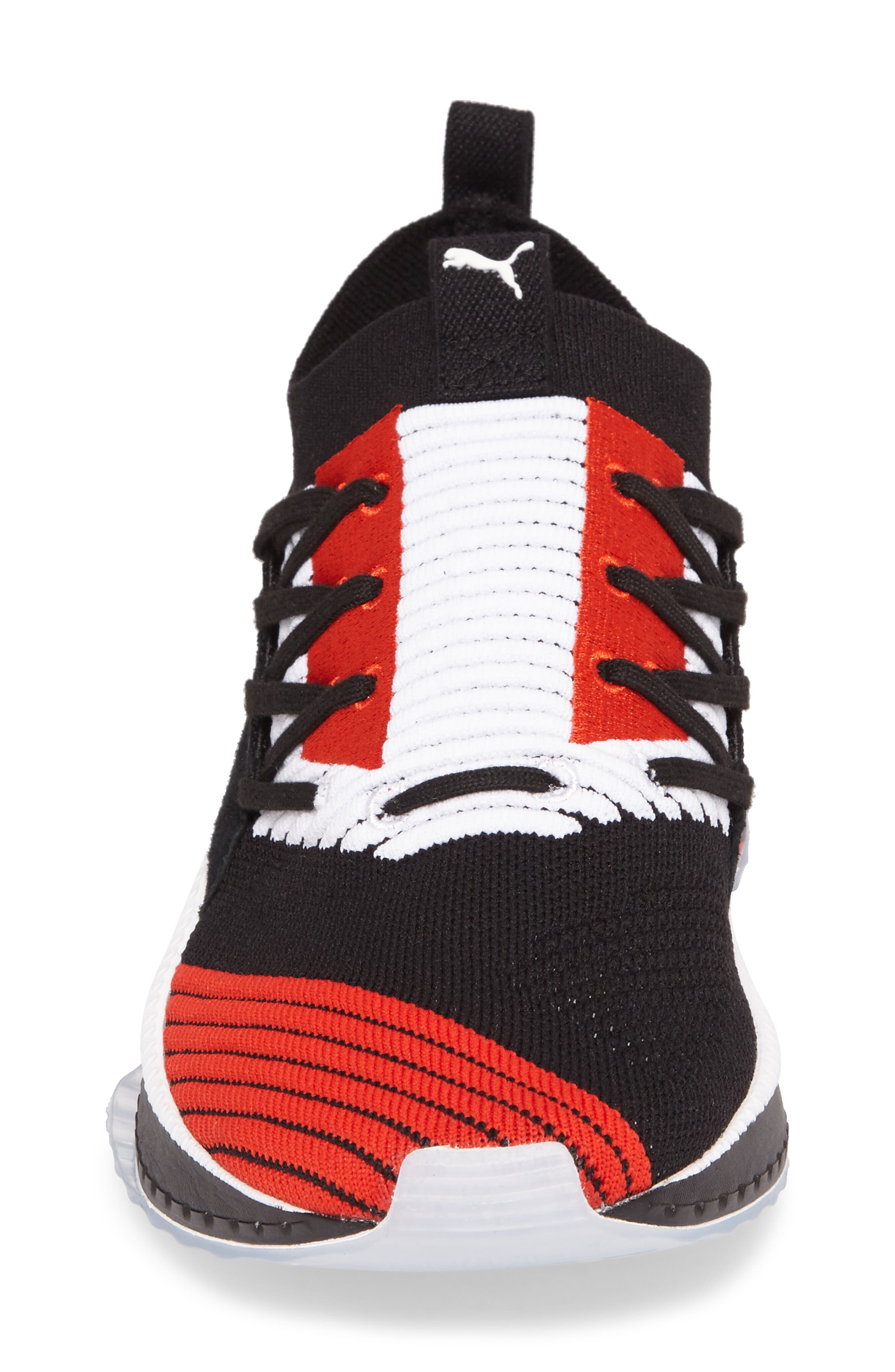 Tsugi Shinsei UT Odyssey Sneaker,                             Alternate thumbnail 4, color,                             Black/White/Flame Scarlet