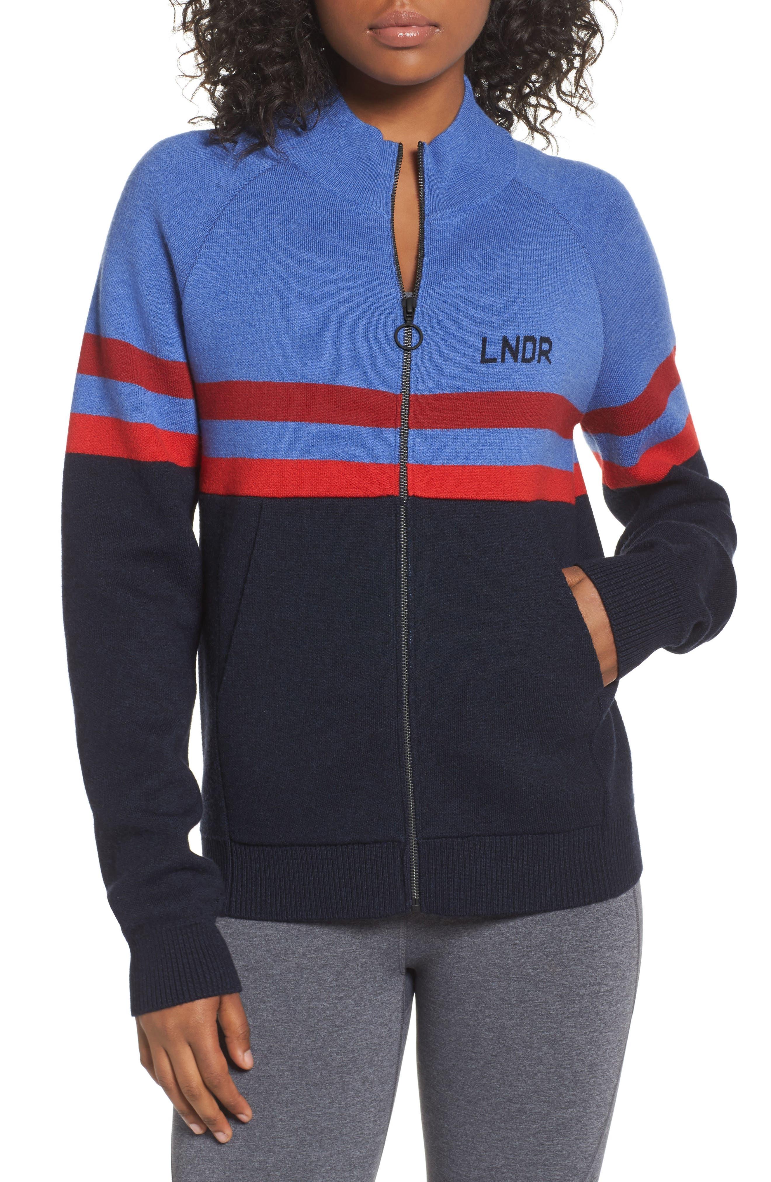 Merino Wool Zip Jacket,                             Main thumbnail 1, color,                             Sky Blue