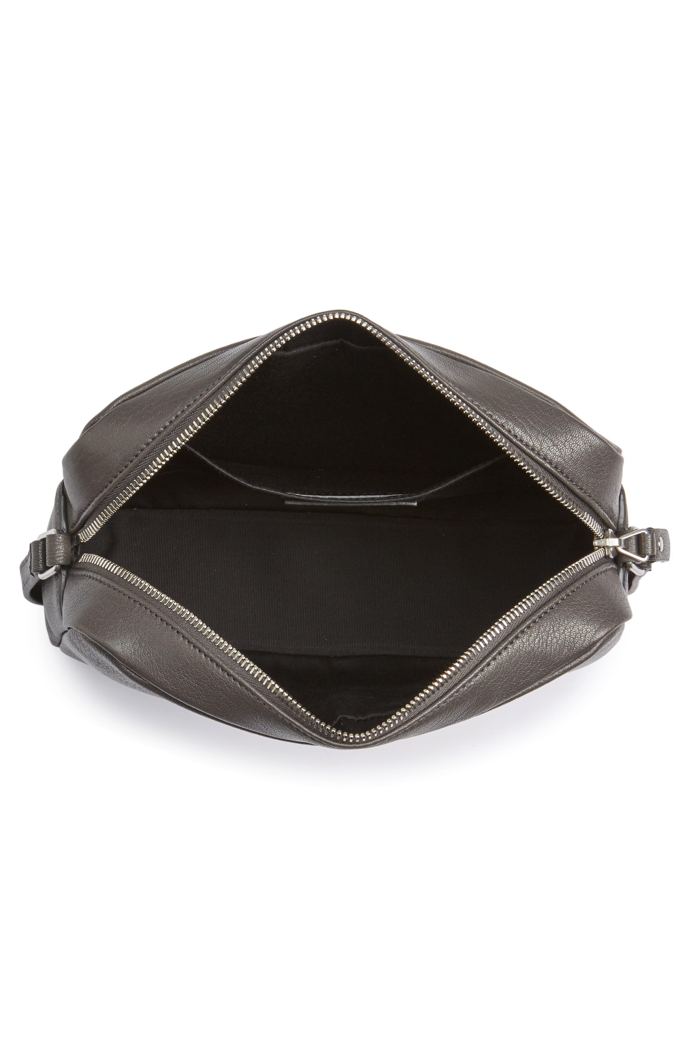 Small Mono Leather Camera Bag,                             Alternate thumbnail 4, color,                             Asphalt