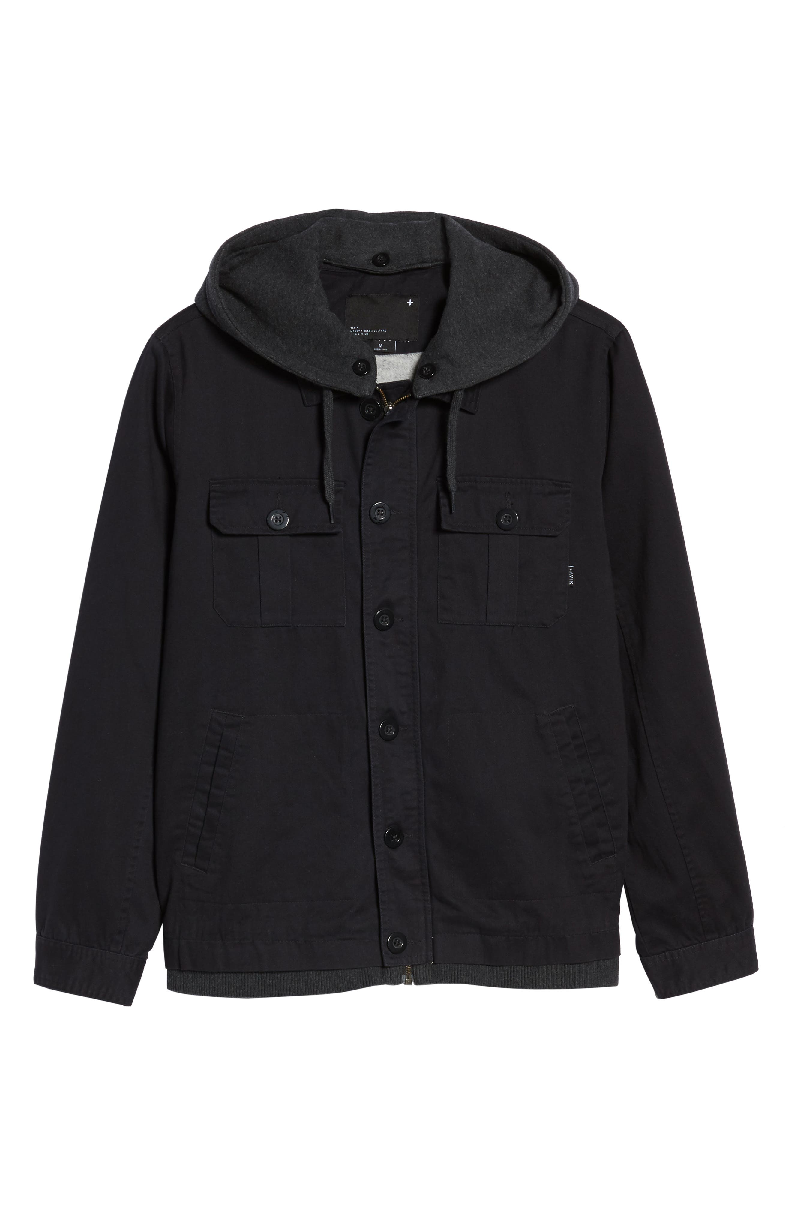 Droogs Field Jacket with Detachable Hood,                             Alternate thumbnail 6, color,                             Grey/ Heather Grey
