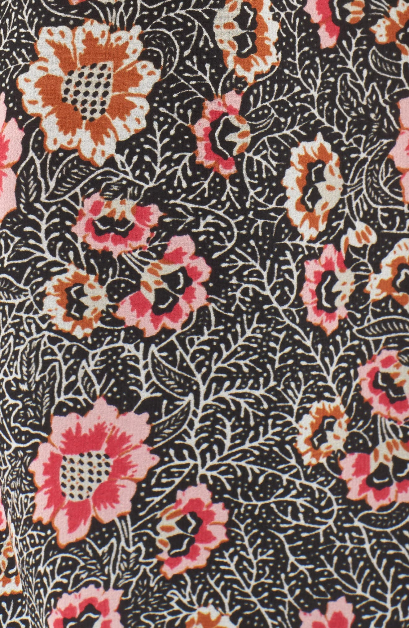 Off the Shoulder Top,                             Alternate thumbnail 5, color,                             Black Multi