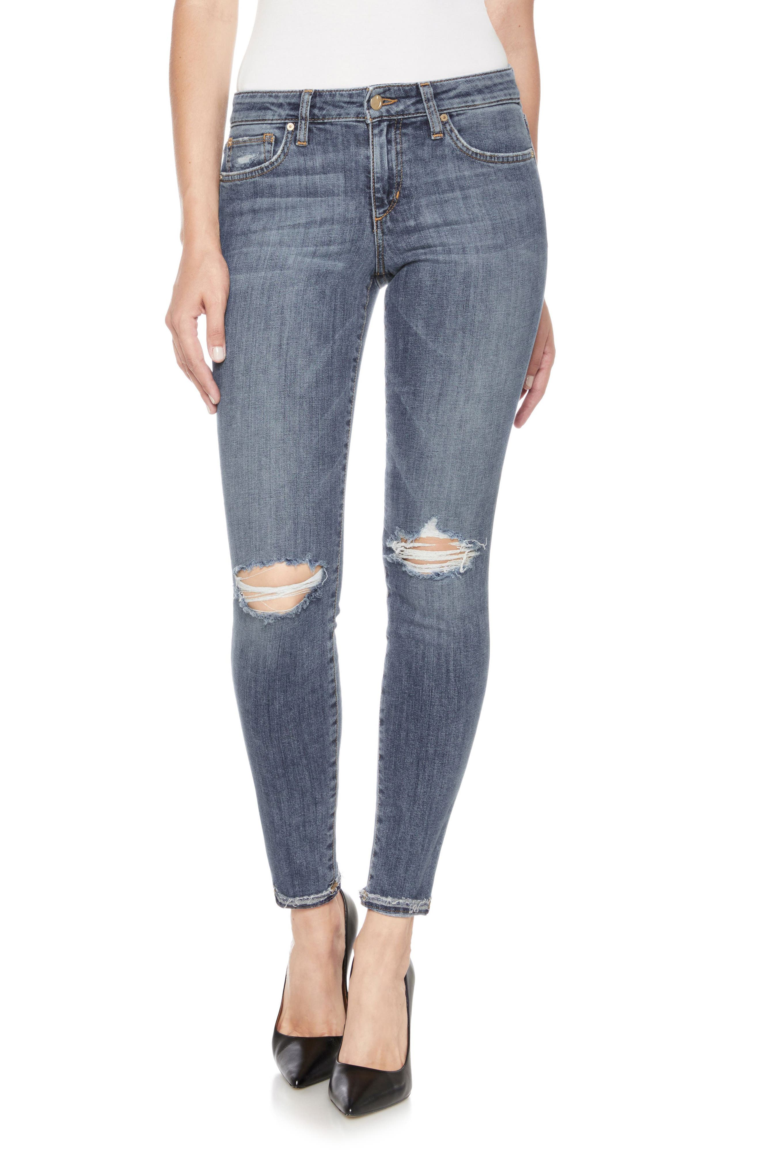 Icon Ankle Skinny Jeans,                         Main,                         color, Raschell