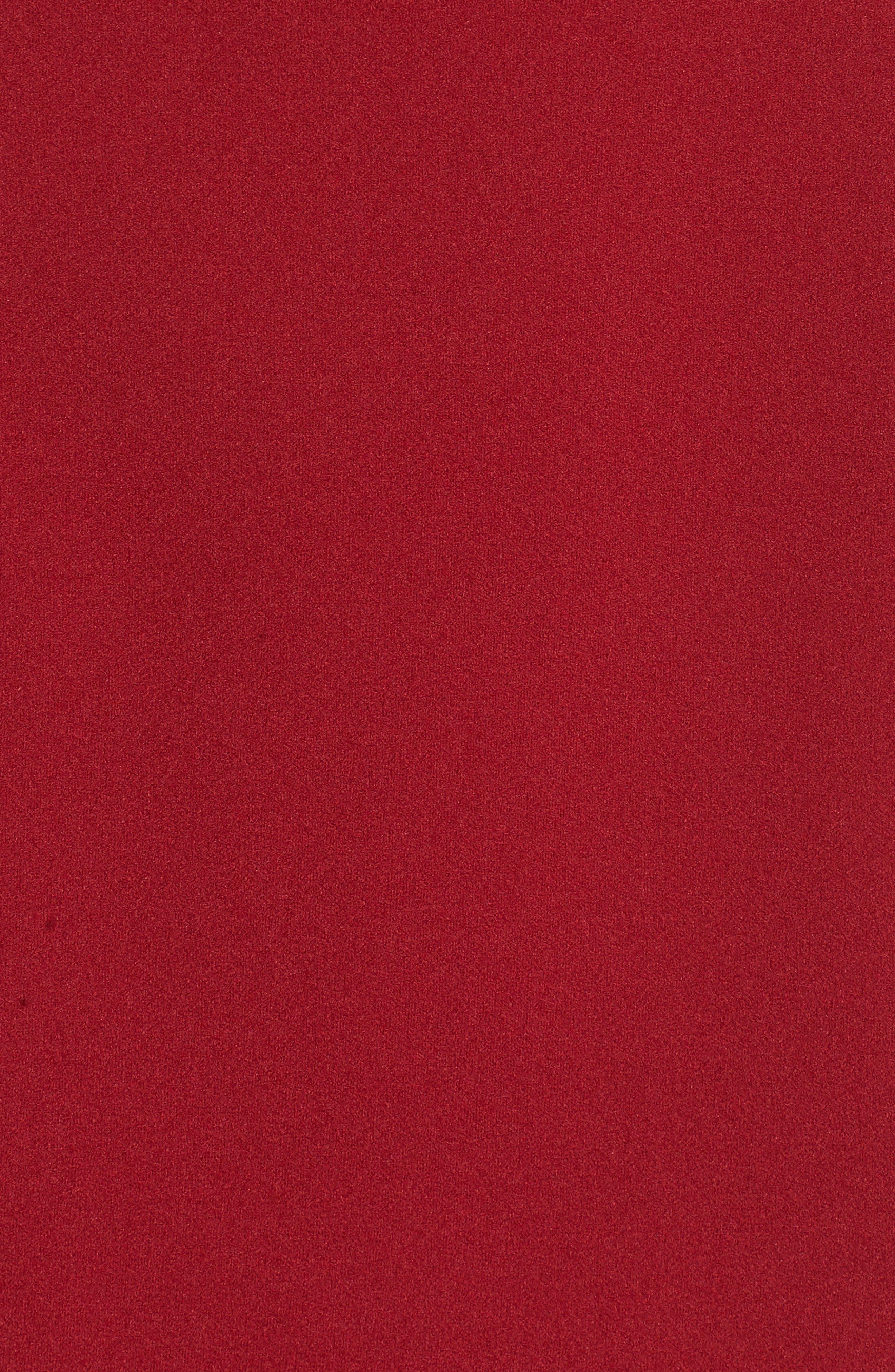 Strappy Illusion Yoke Sheath Dress,                             Alternate thumbnail 5, color,                             Garnet