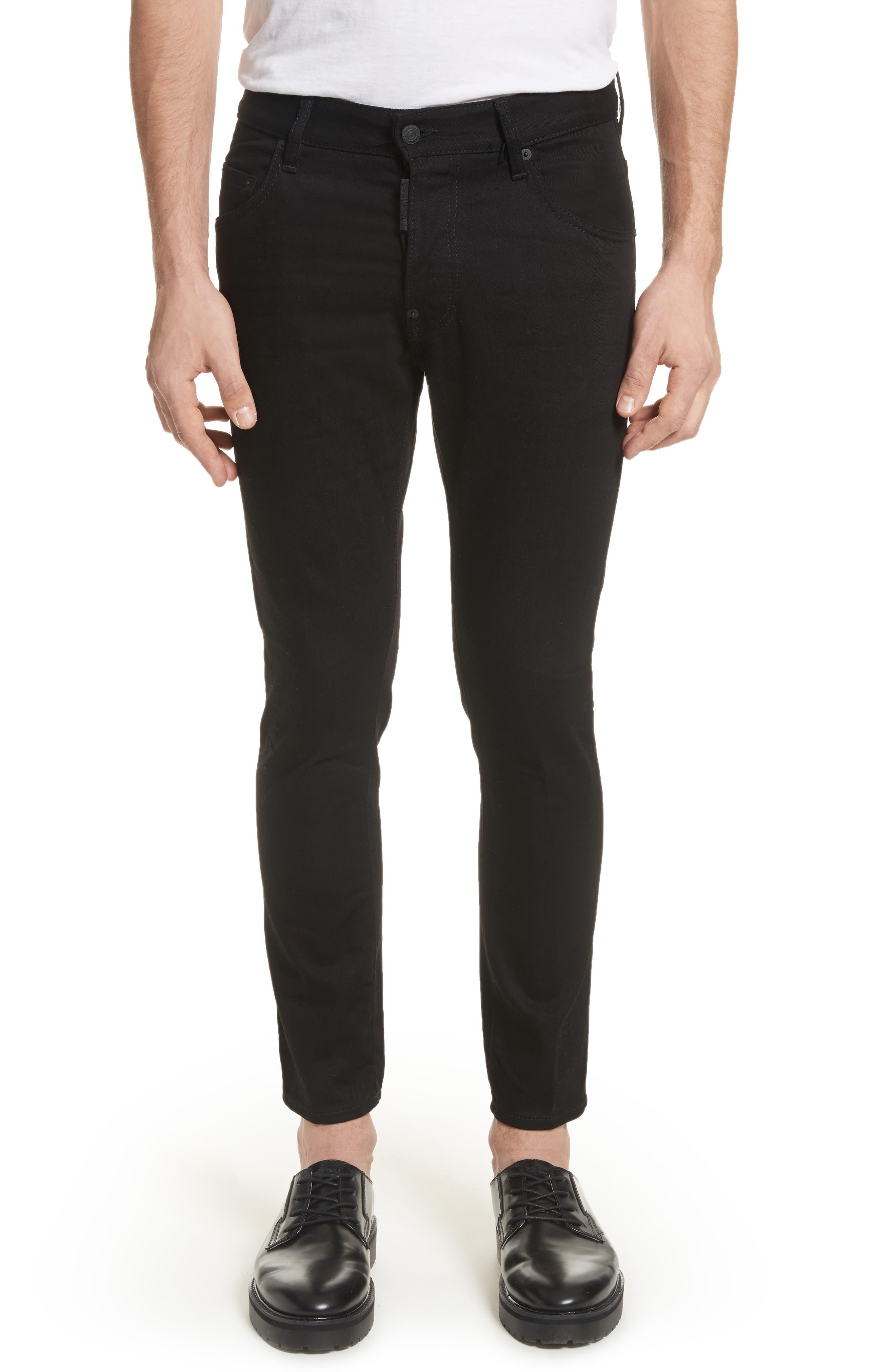 Alternate Image 1 Selected - Dsquared2 Black Bull Skater Jeans