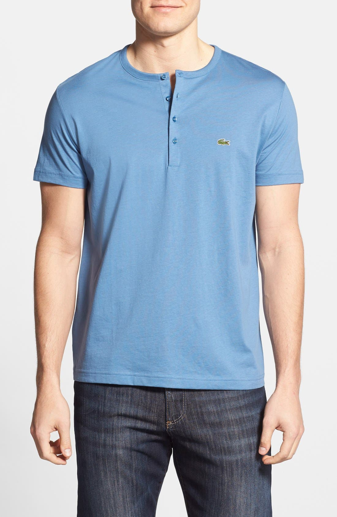 Main Image - Lacoste Short Sleeve Henley T-Shirt
