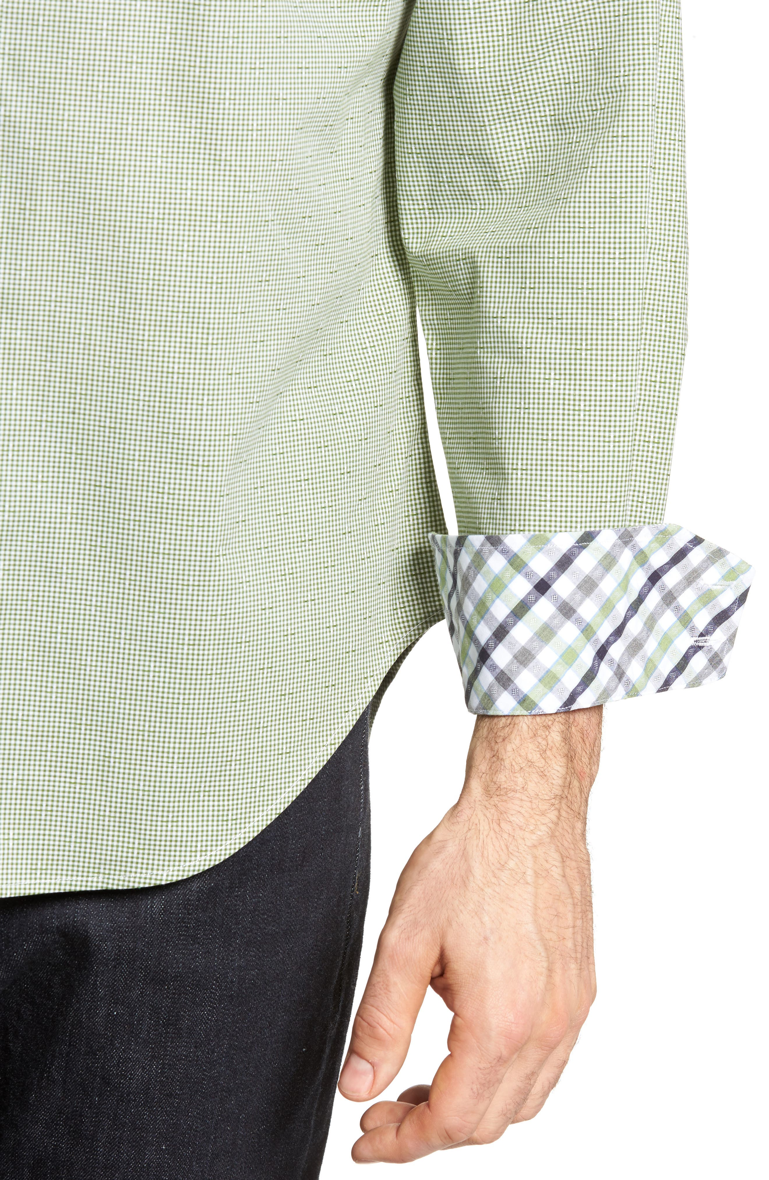 Alternate Image 4  - Thomas Dean Check Sport Shirt