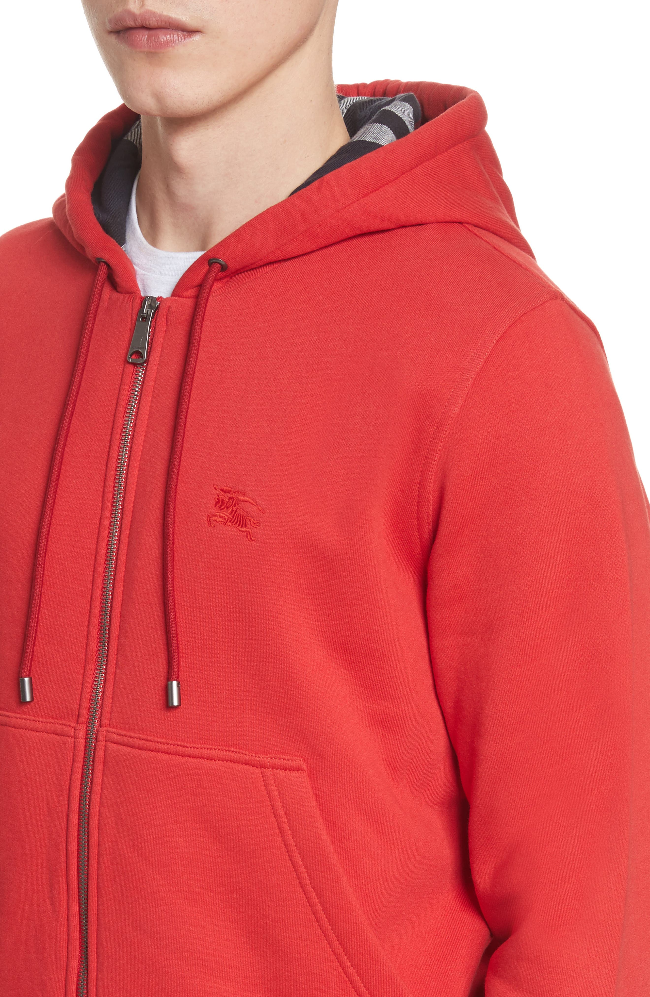 Fordson Fleece Hoodie,                             Alternate thumbnail 4, color,                             Military Red