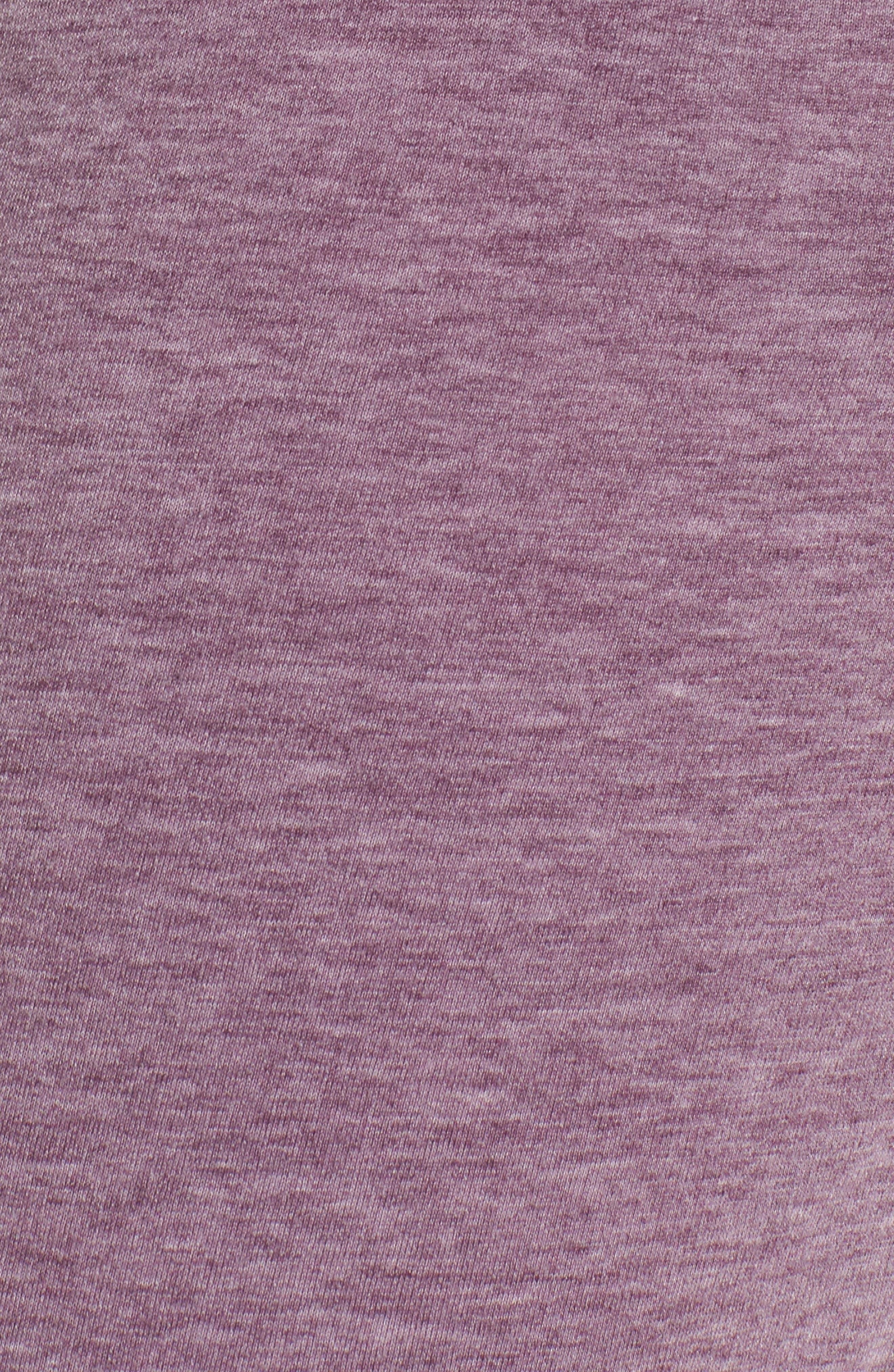 Kayle Crop Sweatpants,                             Alternate thumbnail 5, color,                             Aubergine Glow