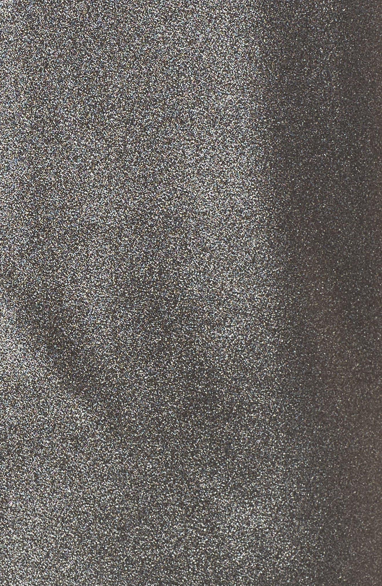 Choker Collar V-Neck Tank,                             Alternate thumbnail 5, color,                             Silver Foil
