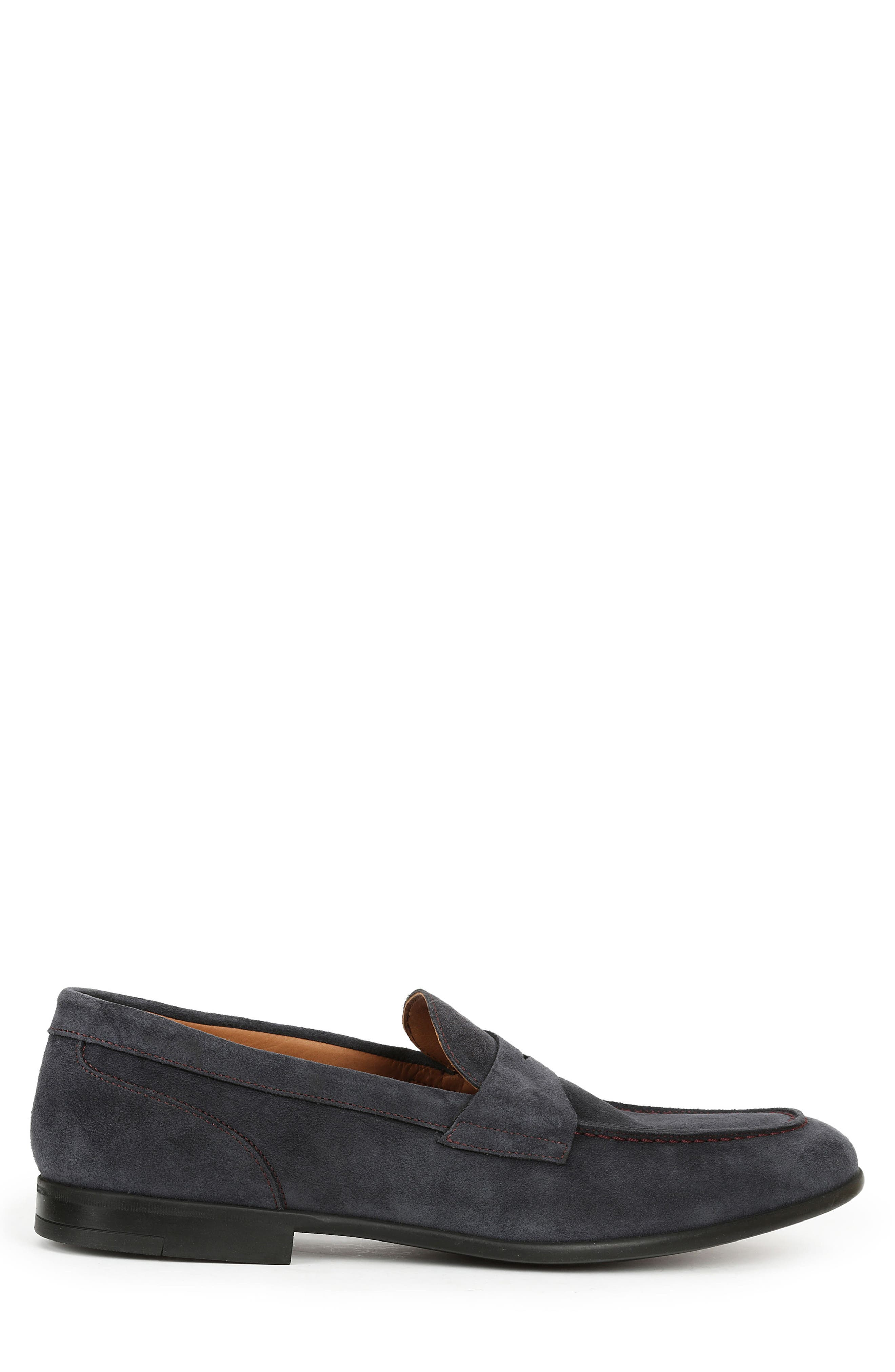 Silas Penny Loafer,                             Alternate thumbnail 4, color,                             Navy