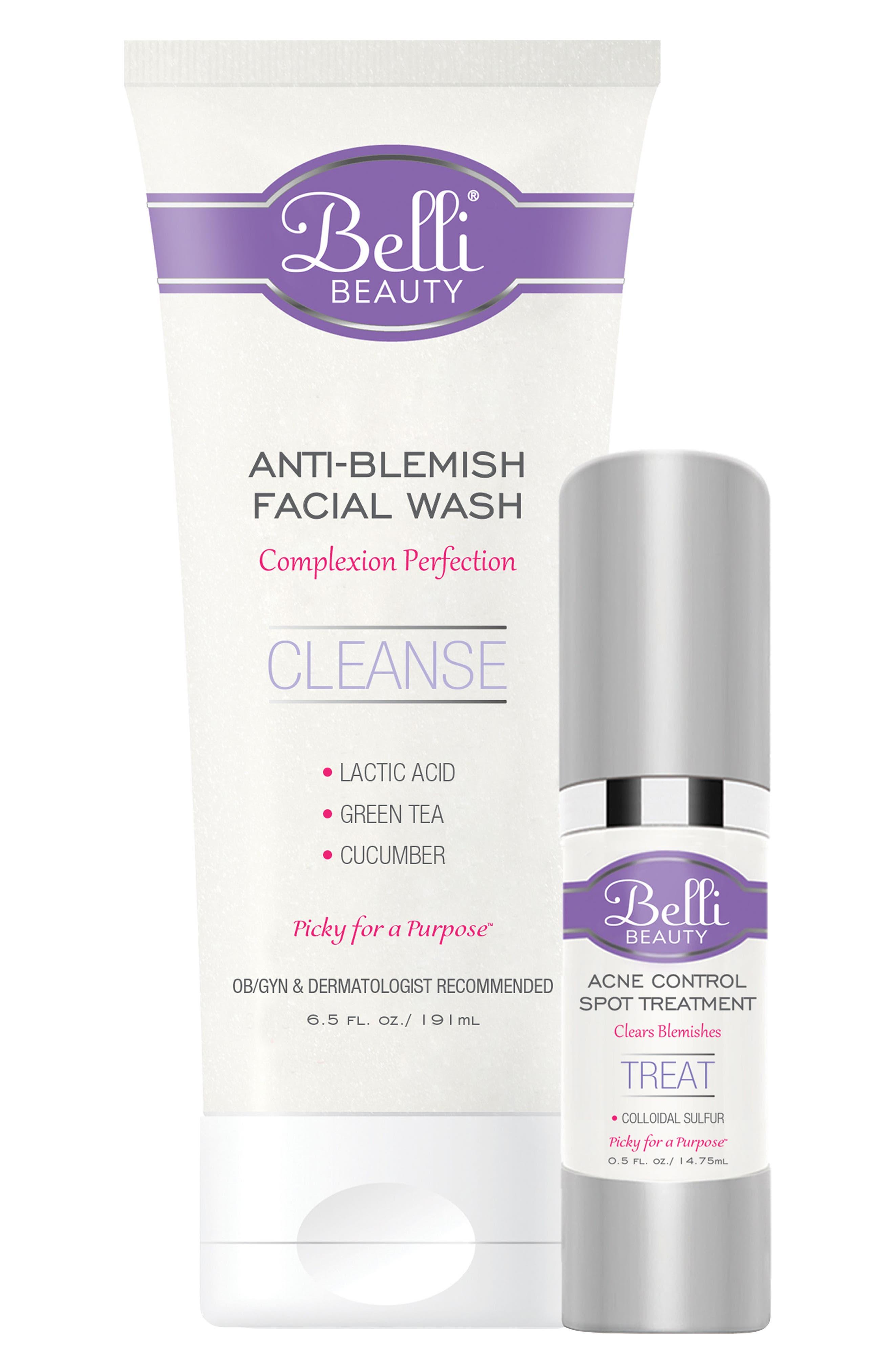 Alternate Image 1 Selected - Belli Skincare Maternity Anti-Blemish Basics with Anti-Blemish Facial Wash (6.5 oz.) & Acne Control Spot Treatment (1.5 oz.)
