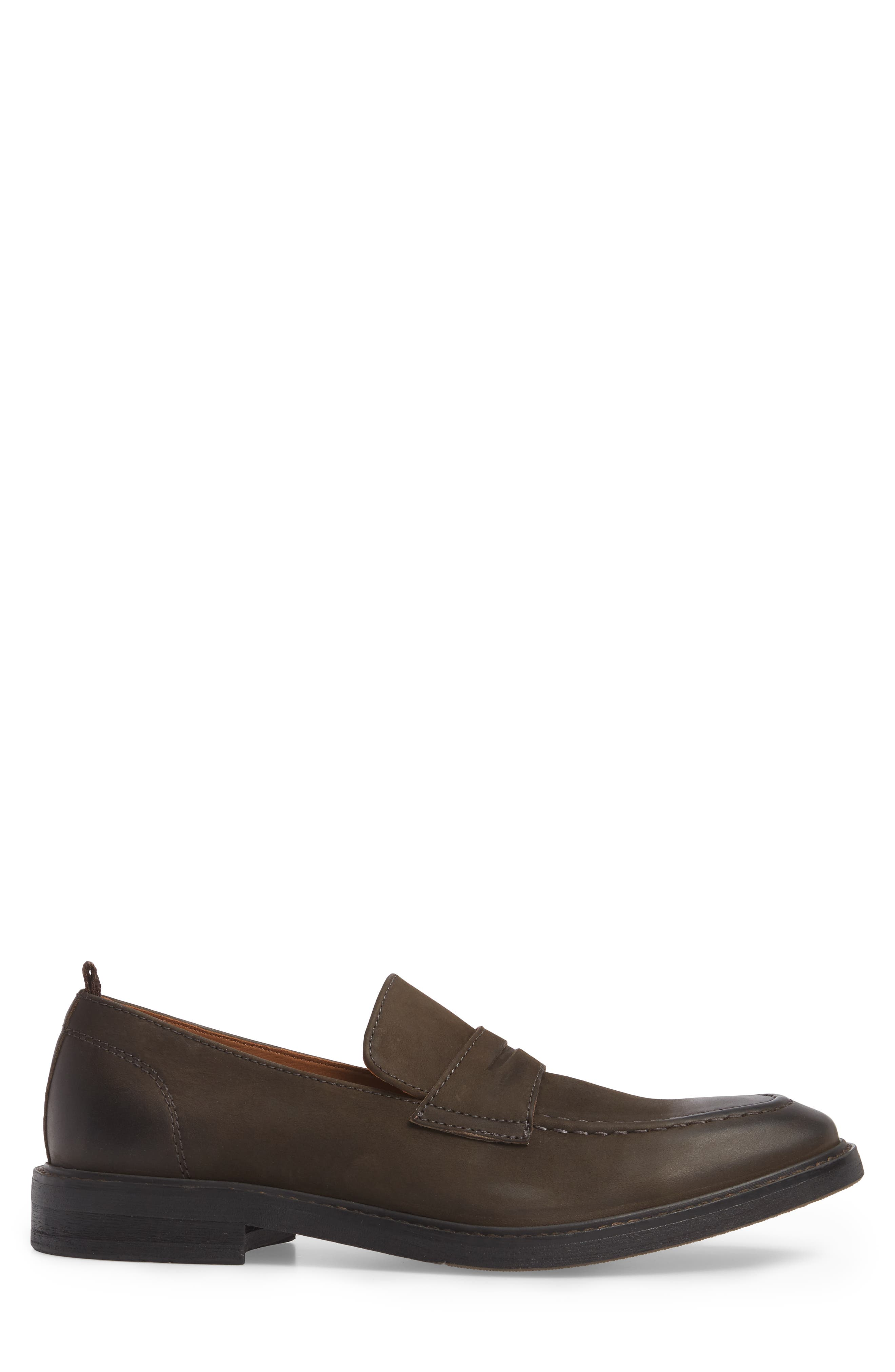 Harrington Penny Loafer,                             Alternate thumbnail 3, color,                             Chocolate Leather