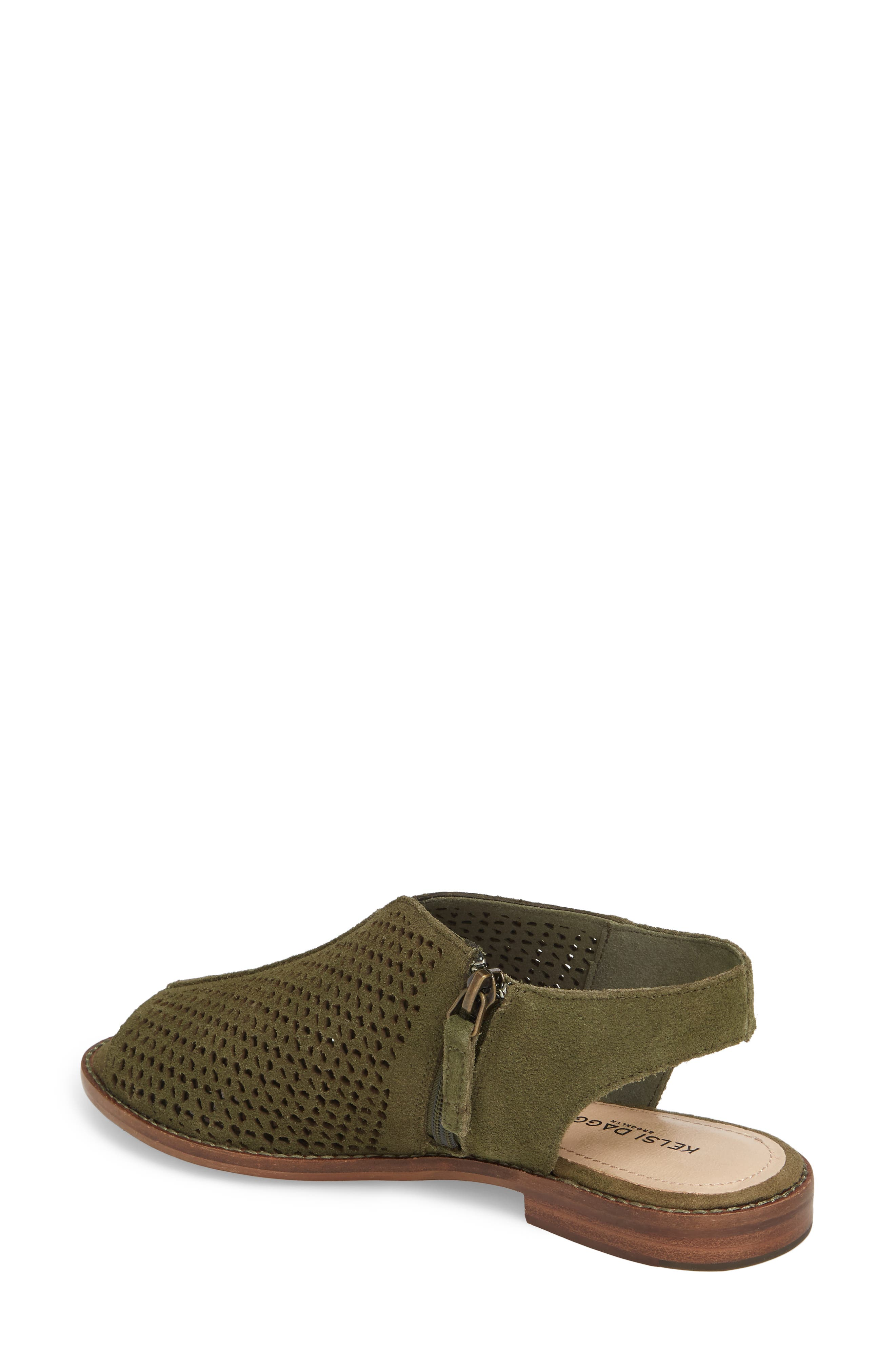 Seneca Perforated Sandal,                             Alternate thumbnail 2, color,                             Olive
