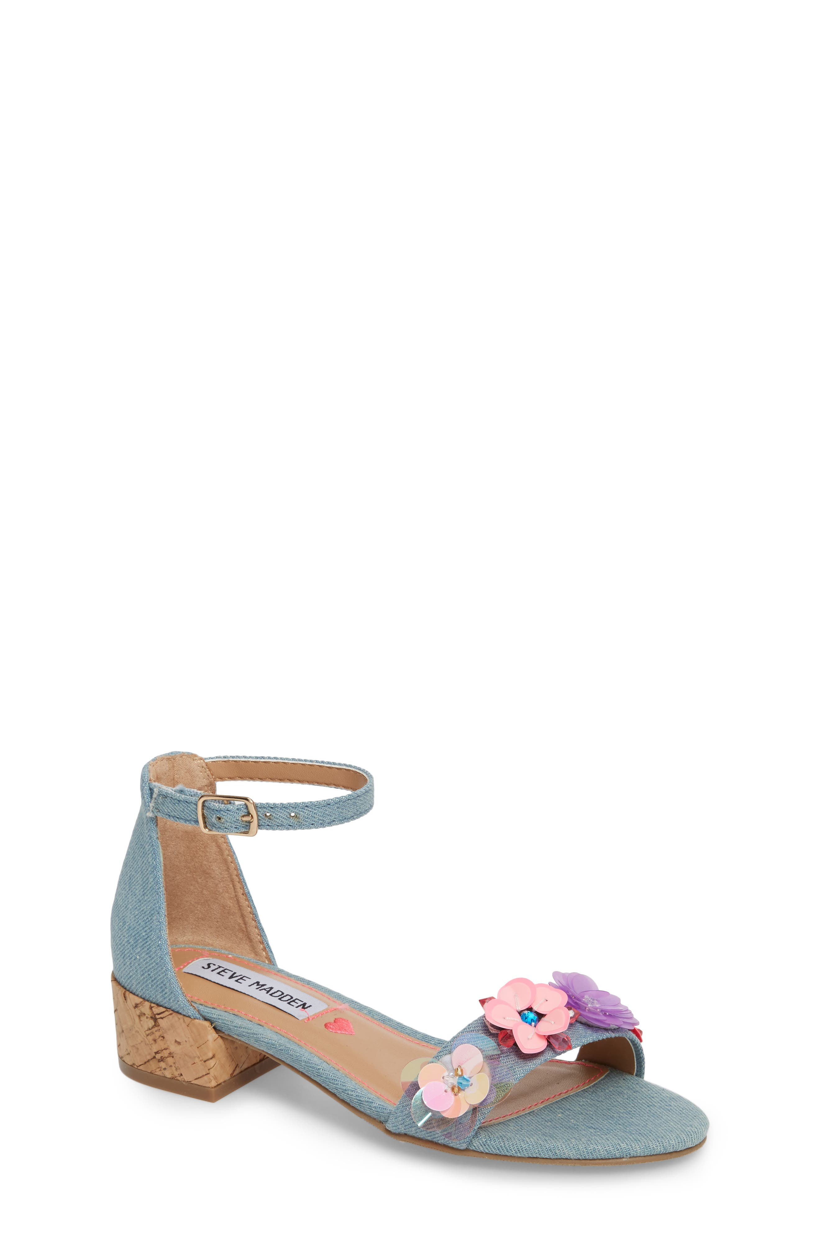 Steve Madden Iriss Embellished Flower Sandal (Little Kid & Big Kid)