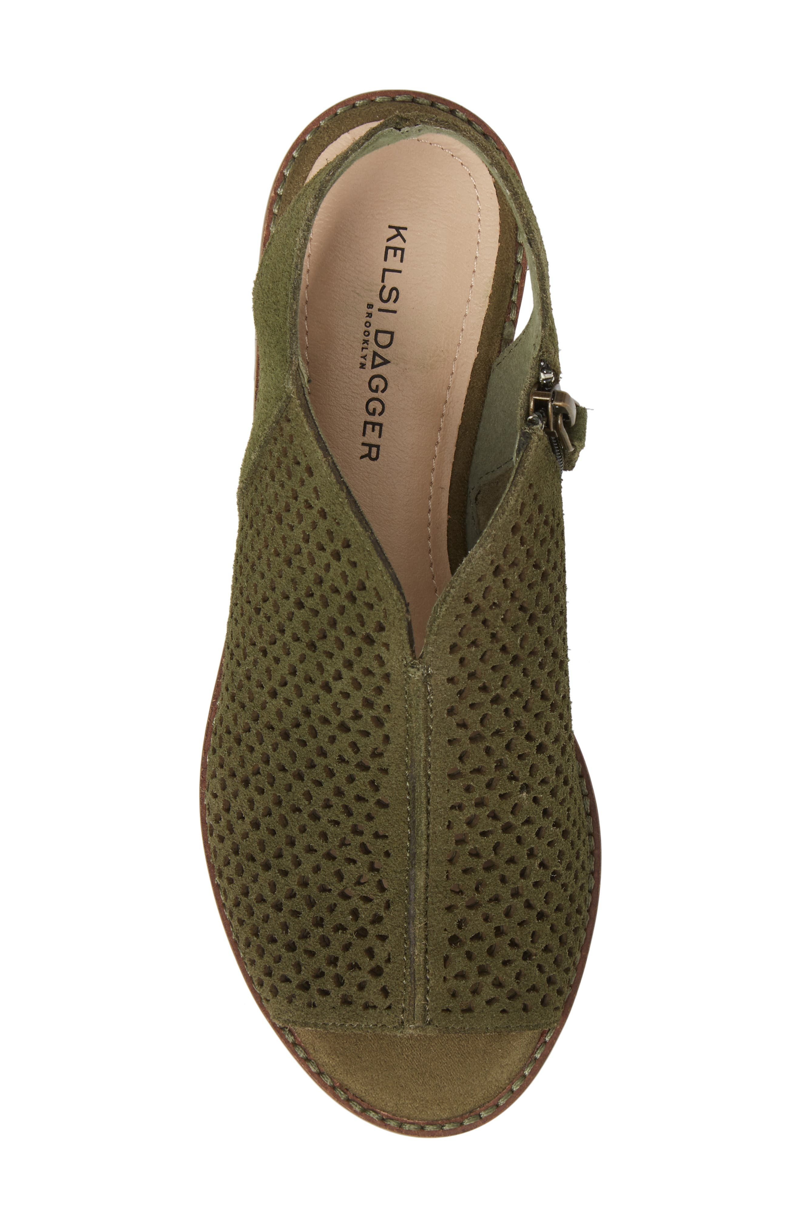 Seneca Perforated Sandal,                             Alternate thumbnail 5, color,                             Olive