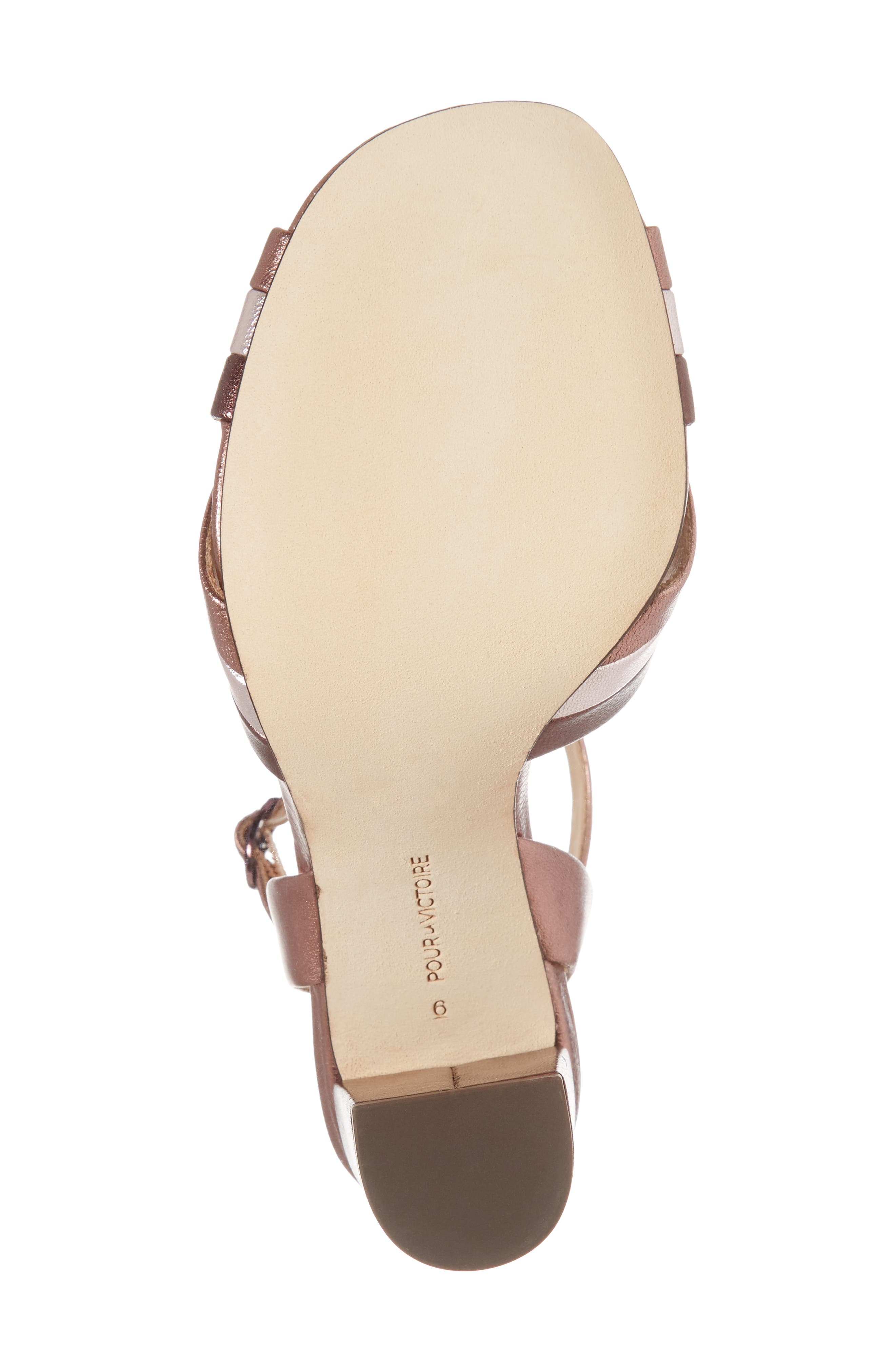 Hadley Sandal,                             Alternate thumbnail 6, color,                             Rose Leather
