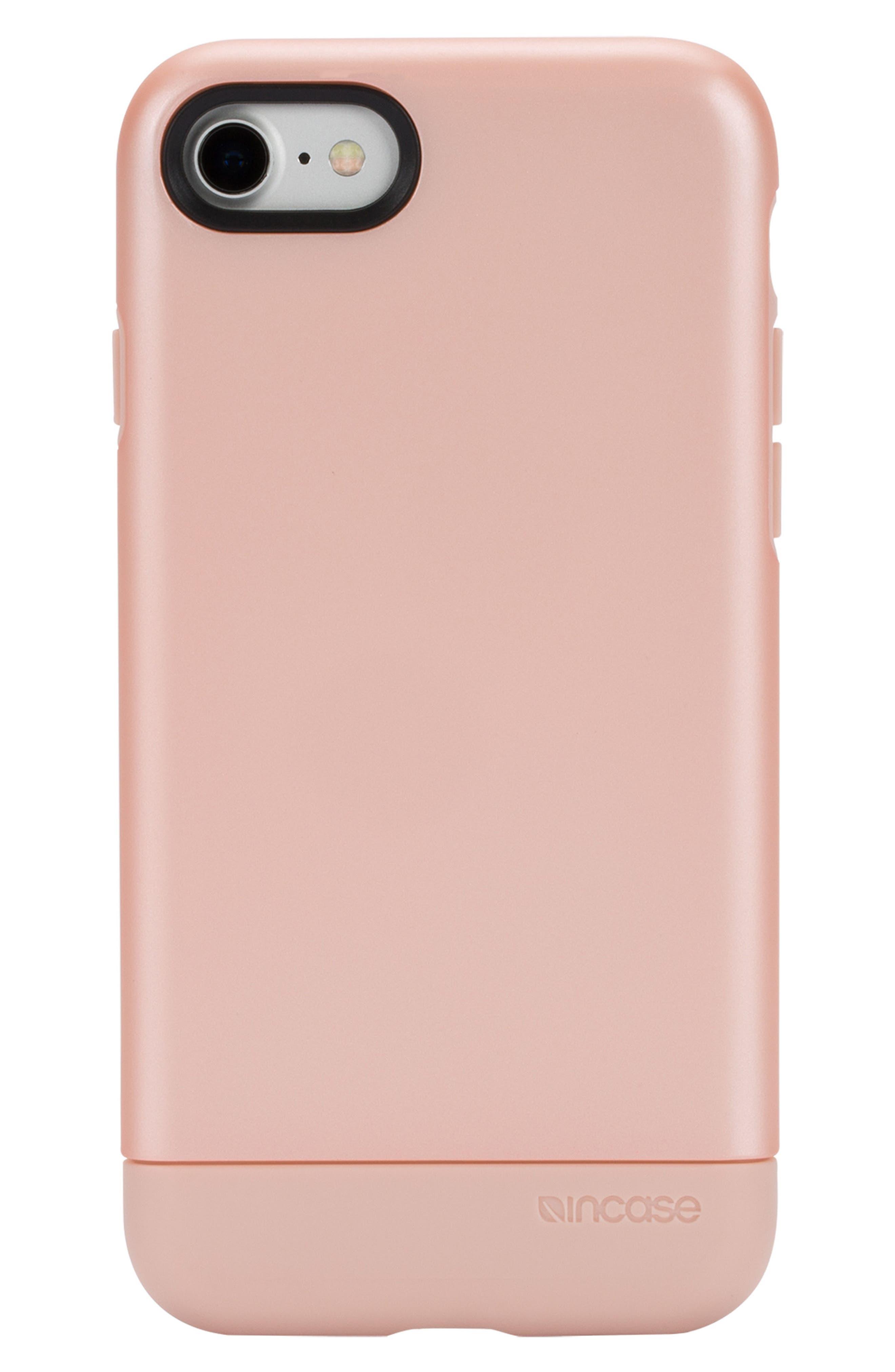 Dual Snap iPhone 7/8 Case,                             Main thumbnail 1, color,                             Rose Gold