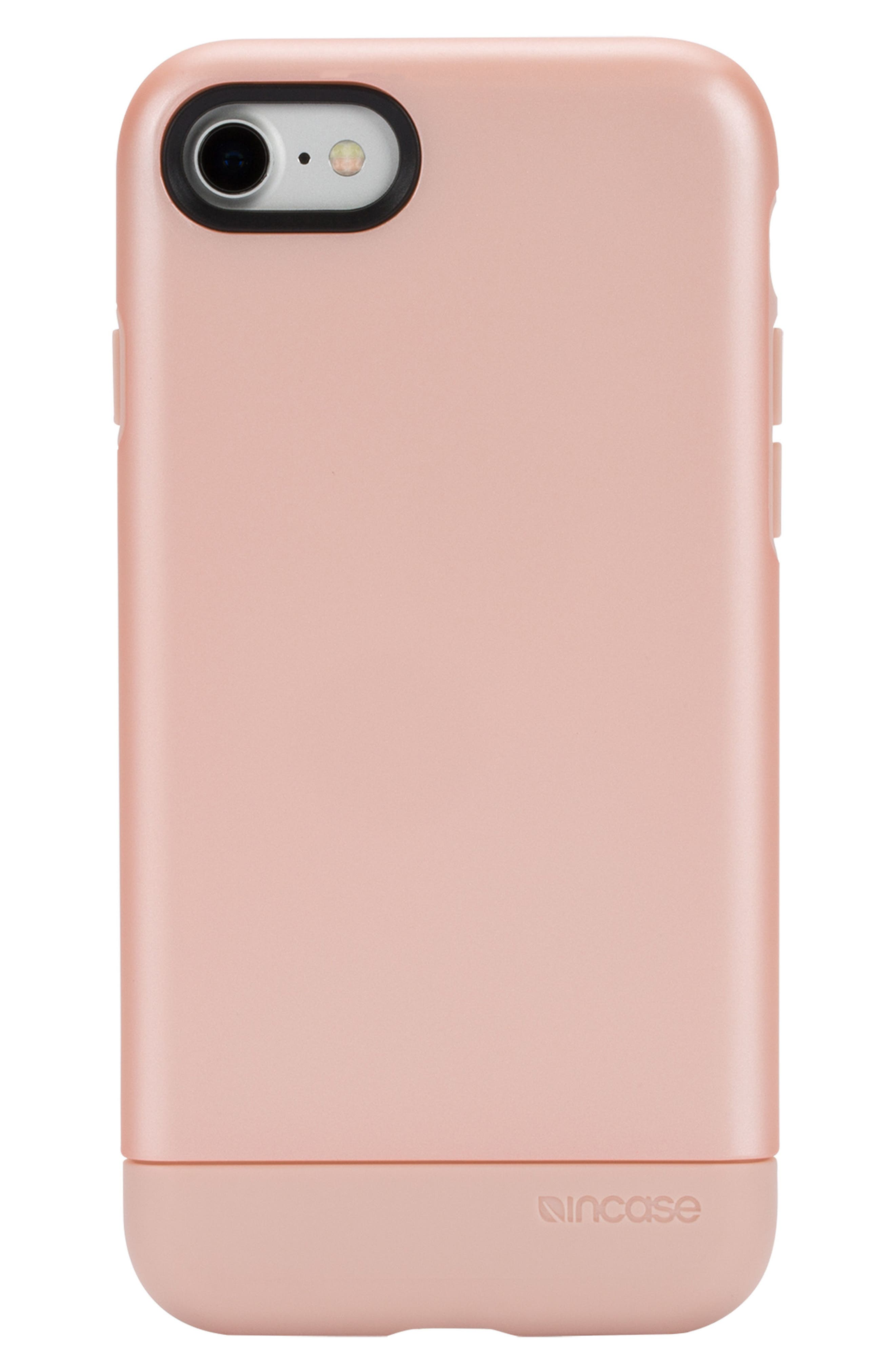 Dual Snap iPhone 7/8 Case,                         Main,                         color, Rose Gold