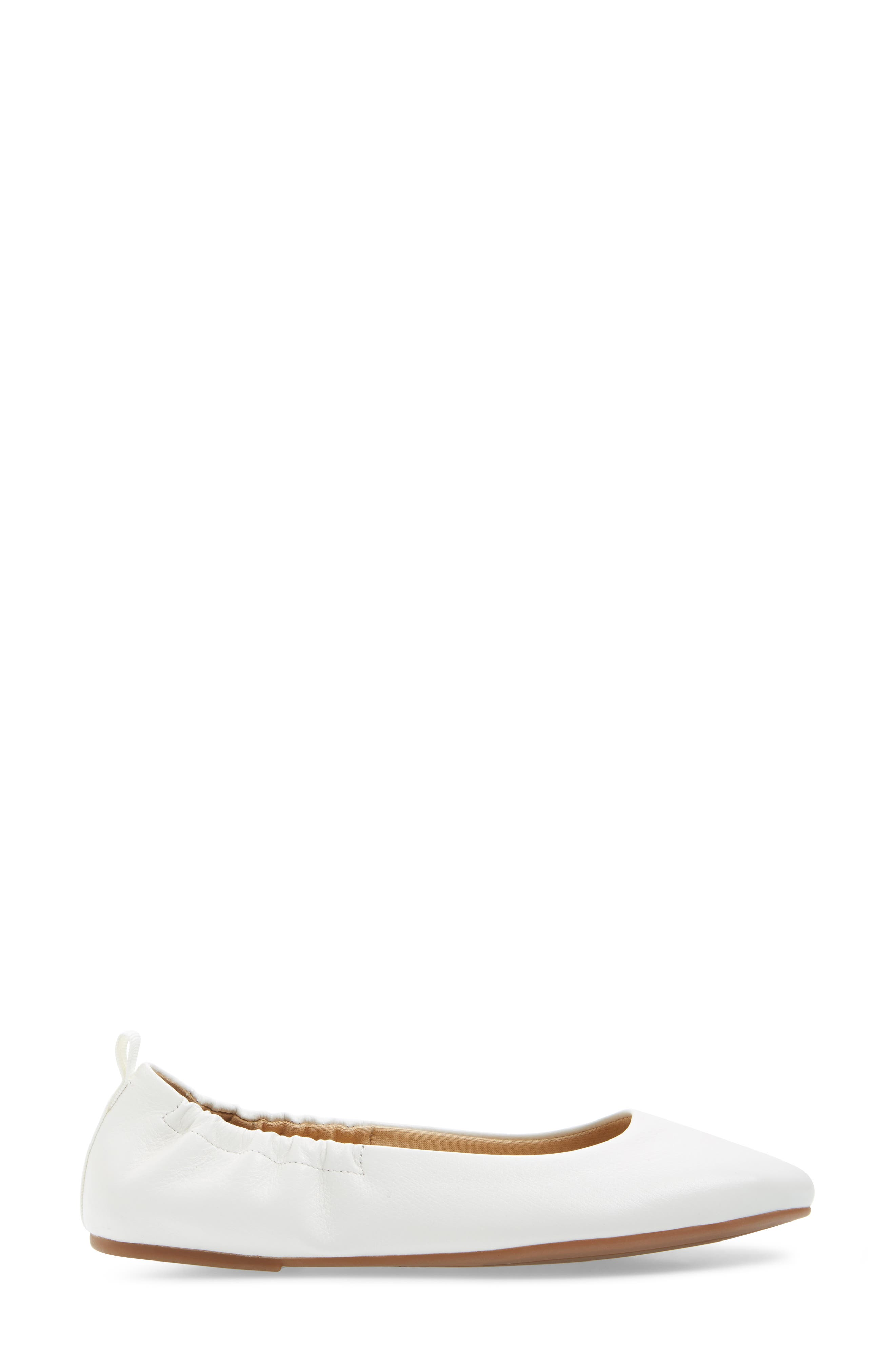 Bailee Skimmer Flat,                             Alternate thumbnail 3, color,                             Off White Leather