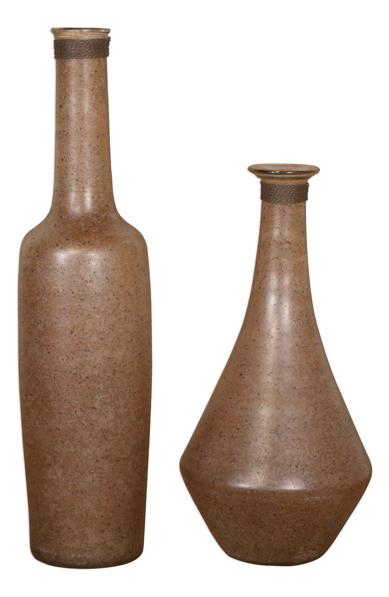 Chandi Set of 2 Vases,                             Main thumbnail 1, color,                             Brown