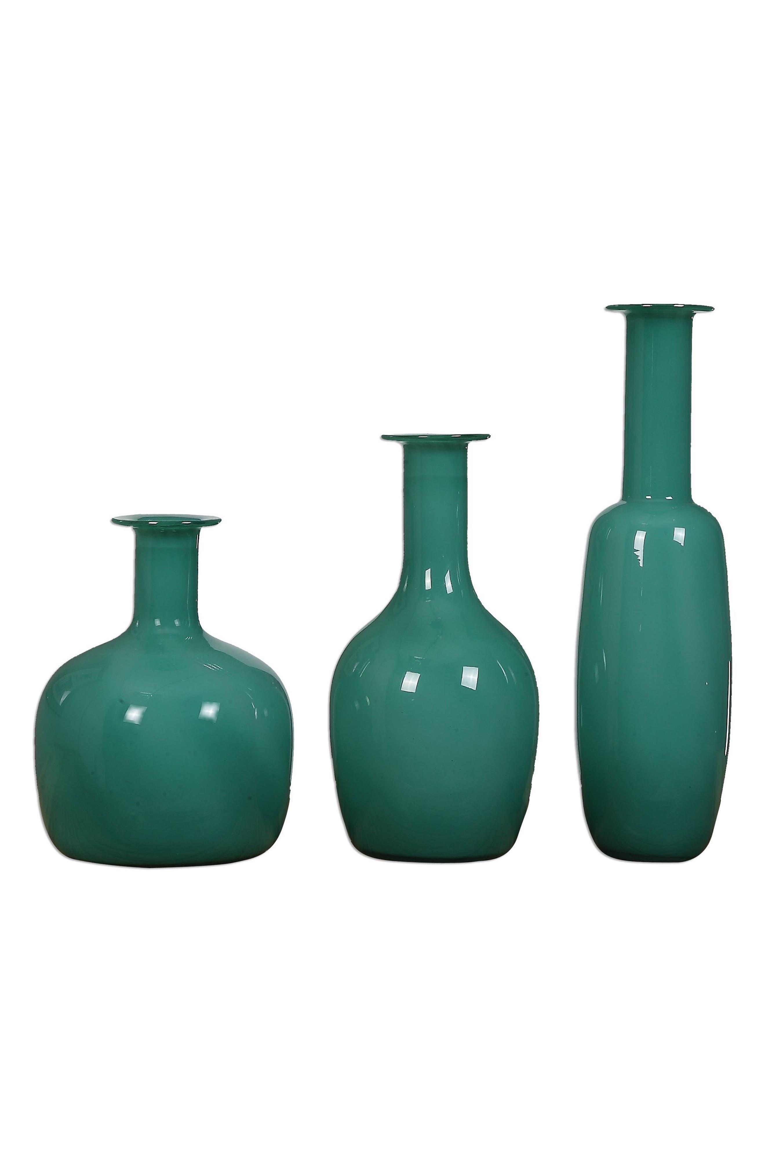 Set of 3 Baram Vases,                         Main,                         color, Green