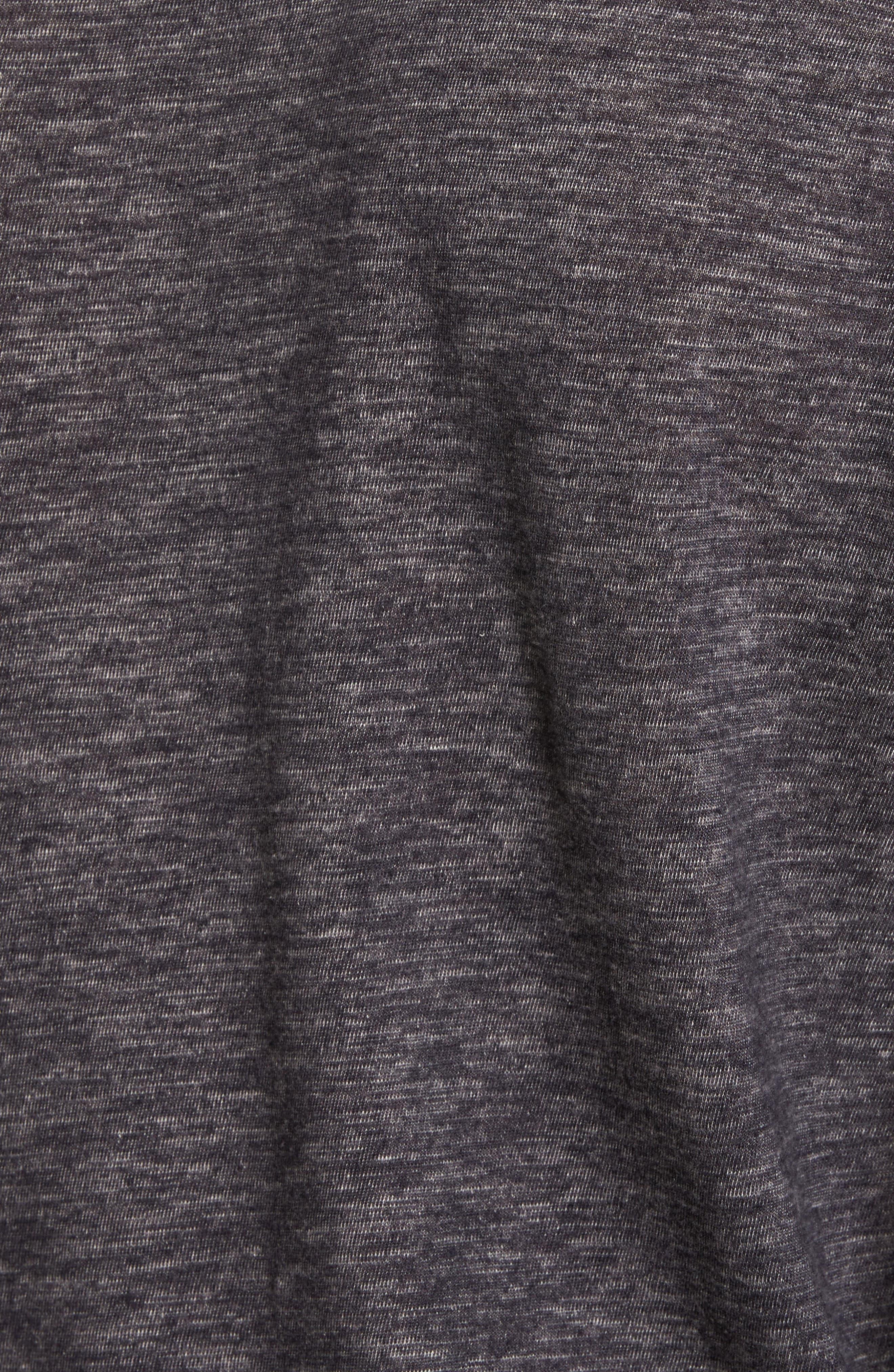 Long Sleeve Slub Knit Henley,                             Alternate thumbnail 5, color,                             Charcoal