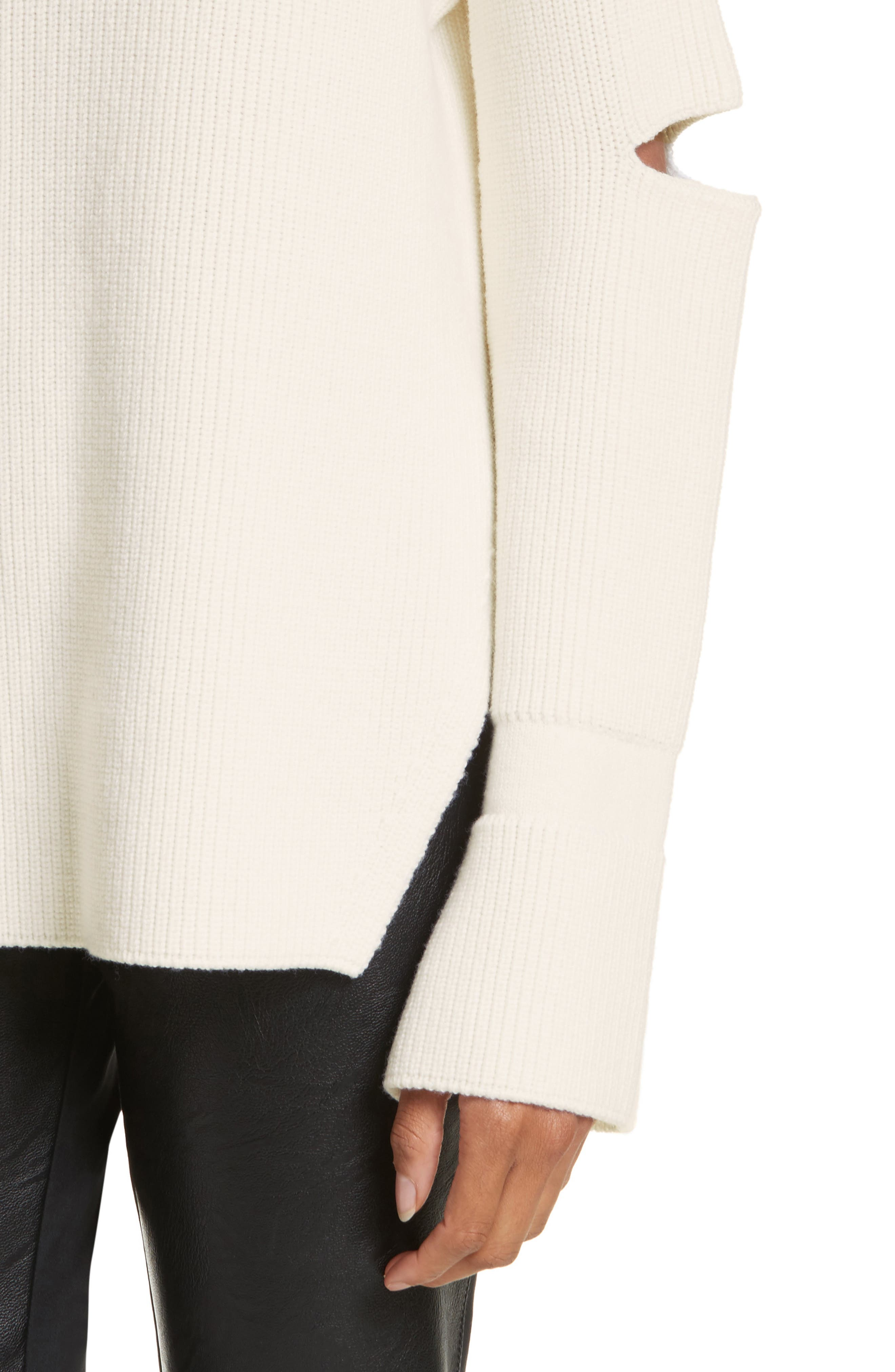 Alternate Image 4  - Stella McCartney Slit Back Virgin Wool Blend Sweater