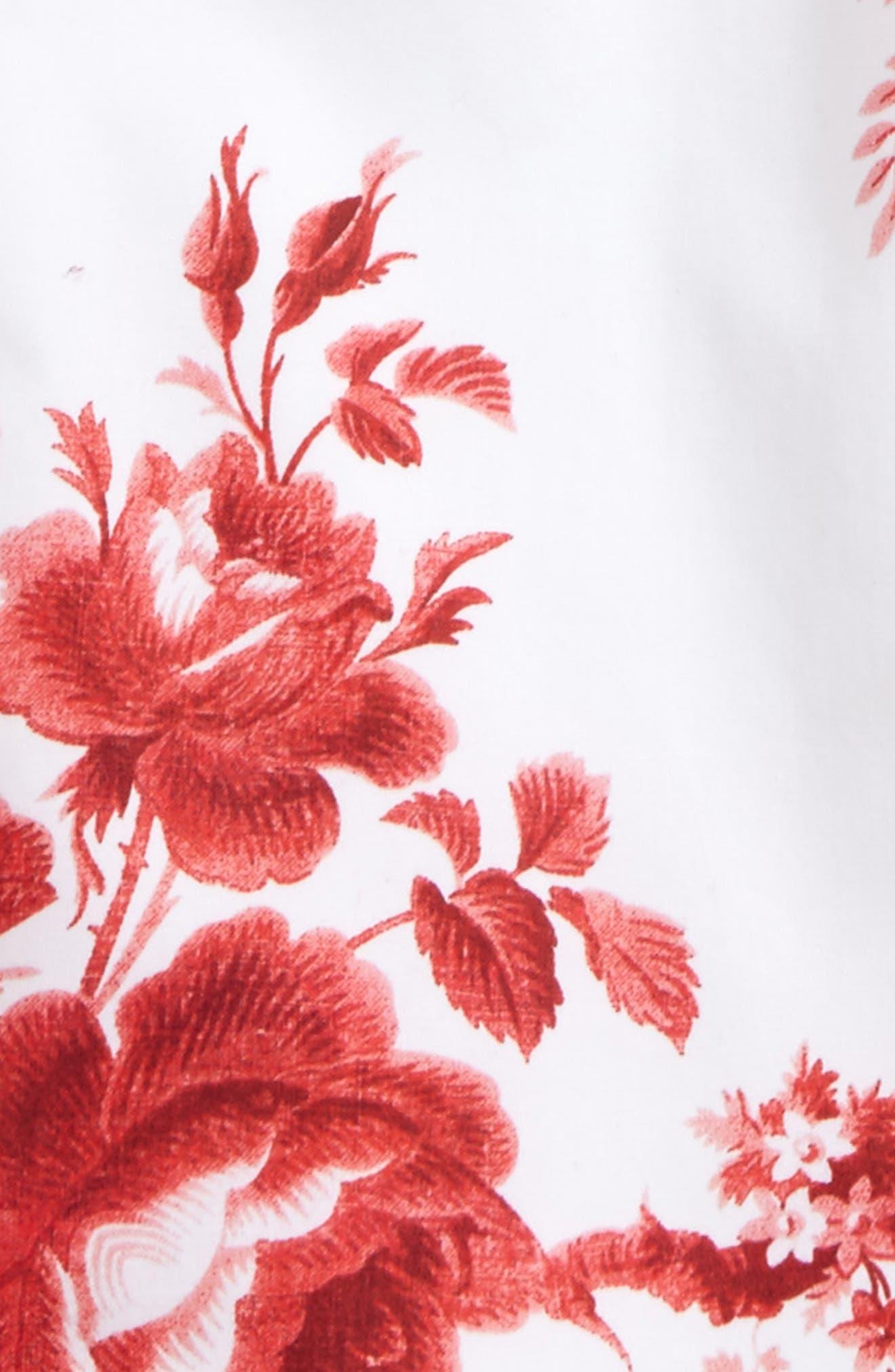 Floral Print Tunic,                             Alternate thumbnail 2, color,                             Cardinal