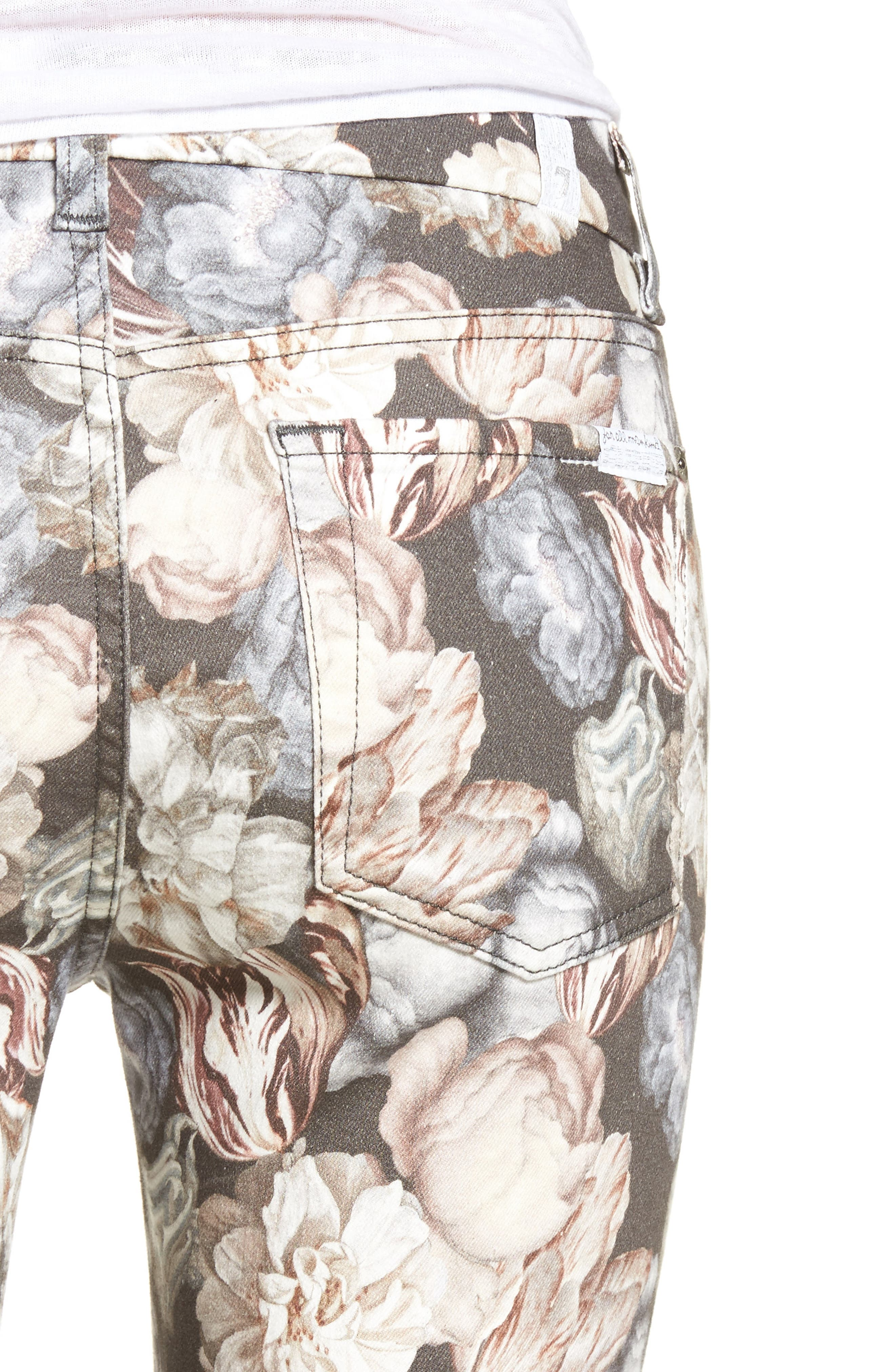 The Ankle Skinny Jeans,                             Alternate thumbnail 4, color,                             Amsterdam Floral