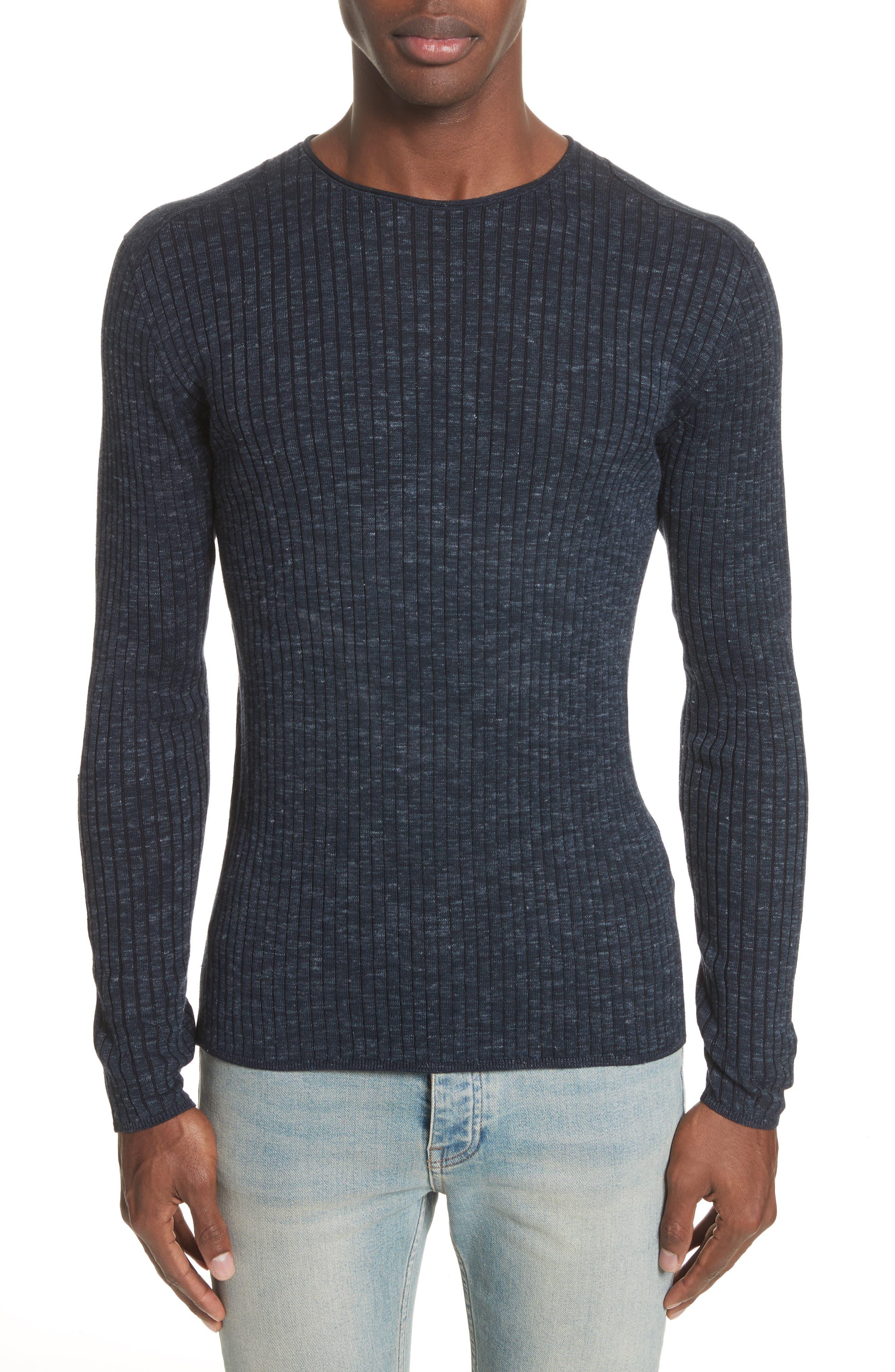 Alternate Image 1 Selected - John Varvatos Collection Mélange Stripe Sweater