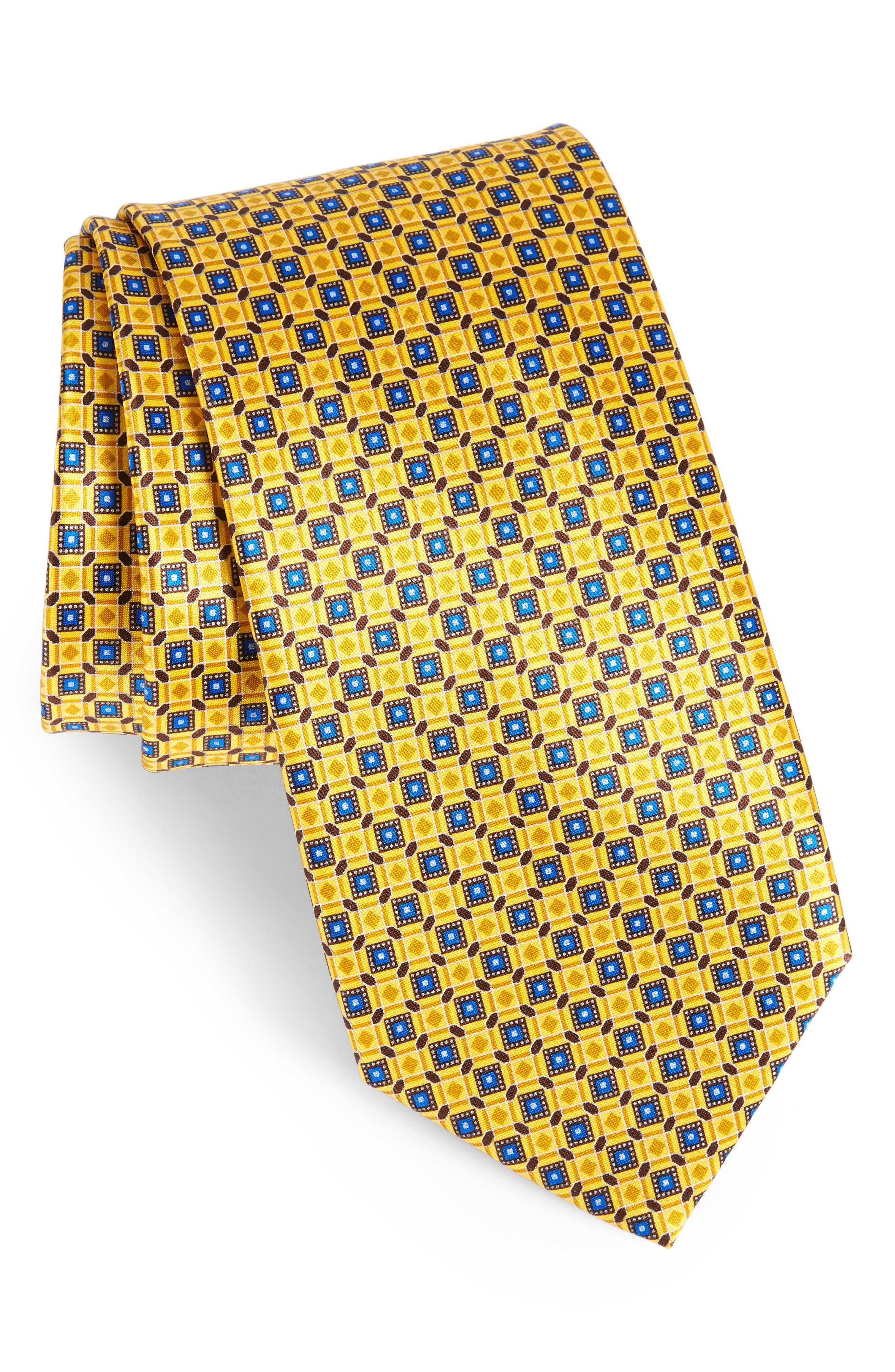Main Image - Canali Neat Print Silk Tie