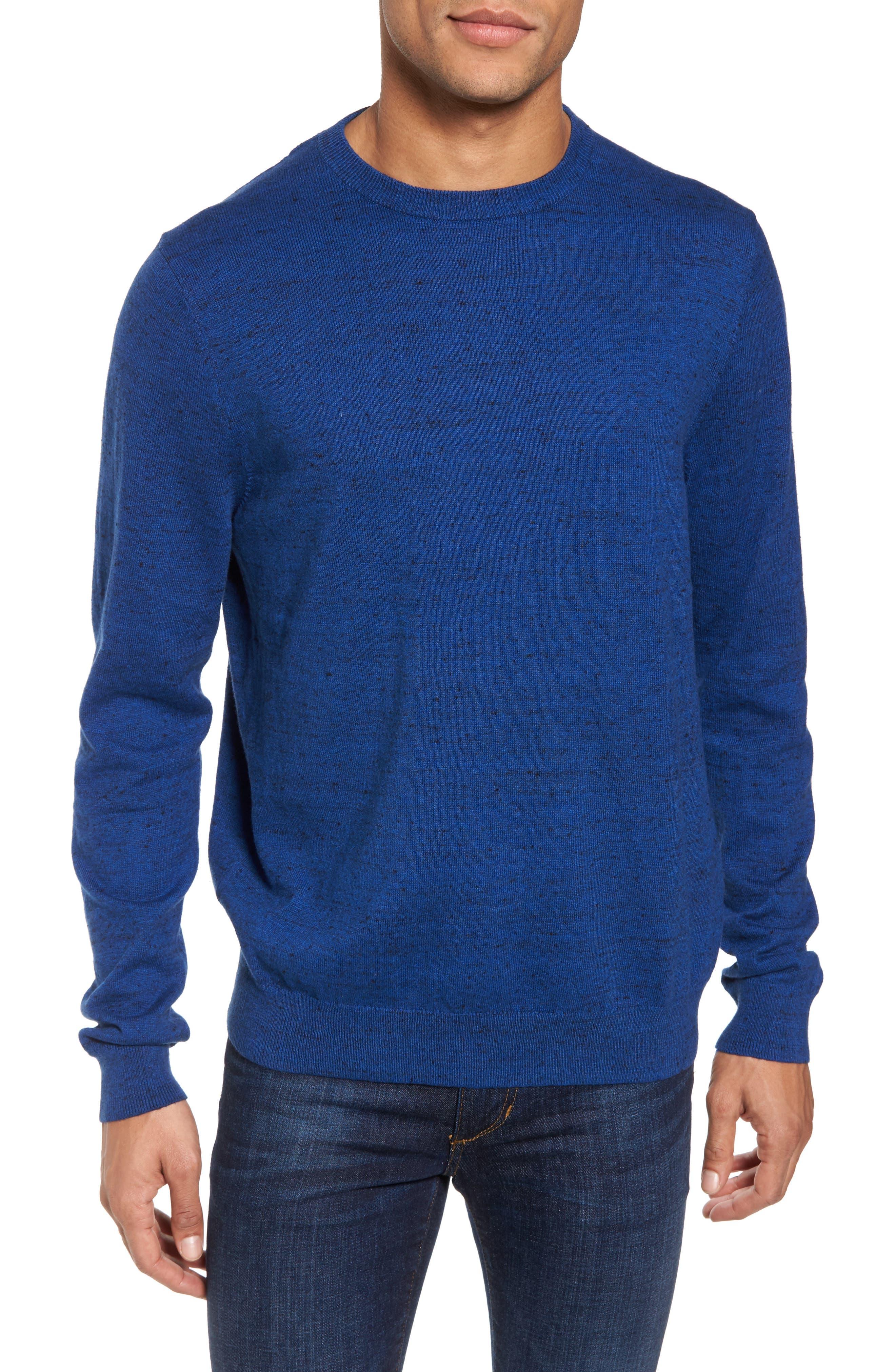 Main Image - Nordstrom Men's Shop Cotton & Cashmere Crewneck Sweater (Regular & Tall)