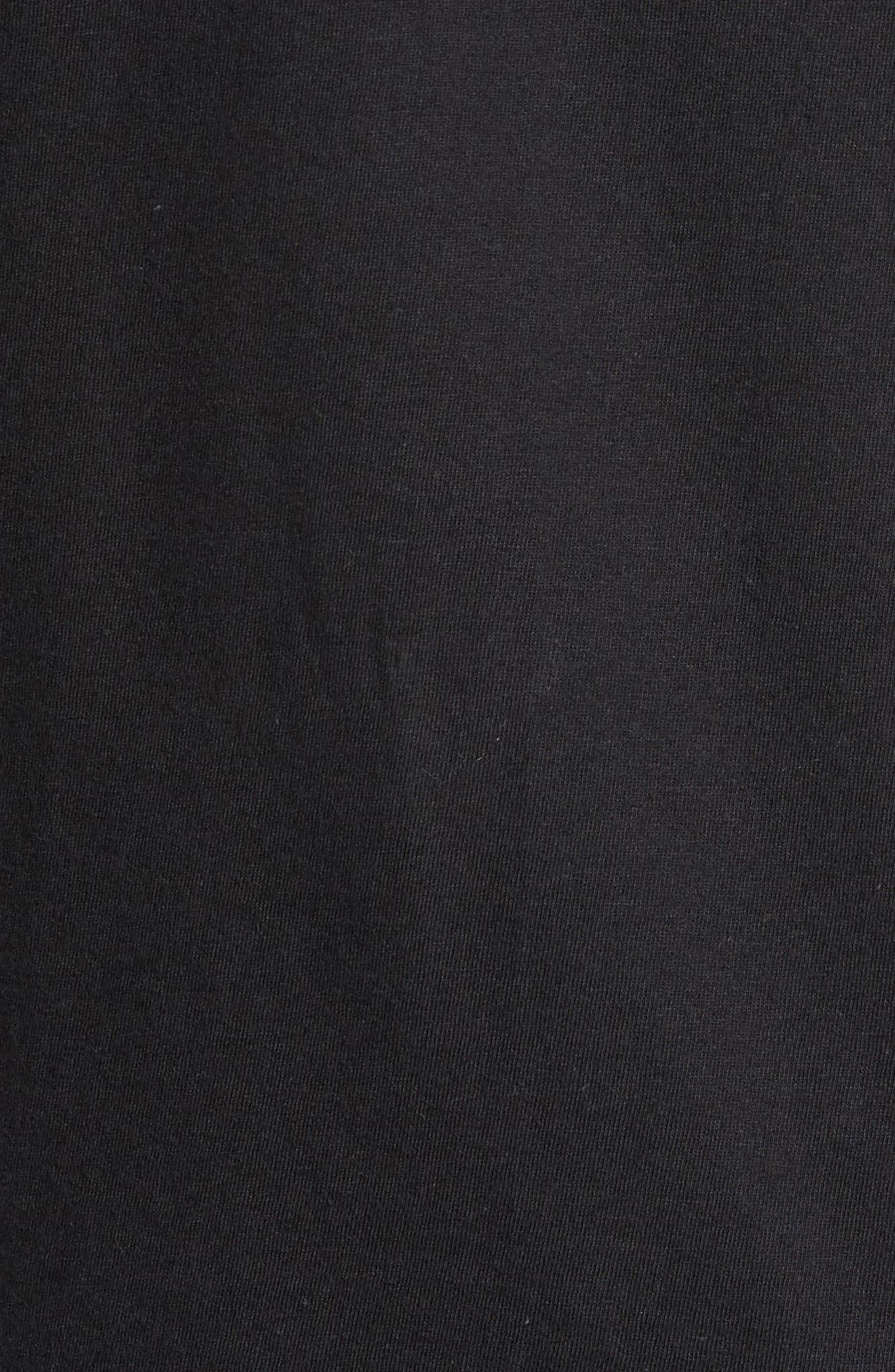 Tis The Season Embroidered T-Shirt,                             Alternate thumbnail 5, color,                             Black Tis The Season
