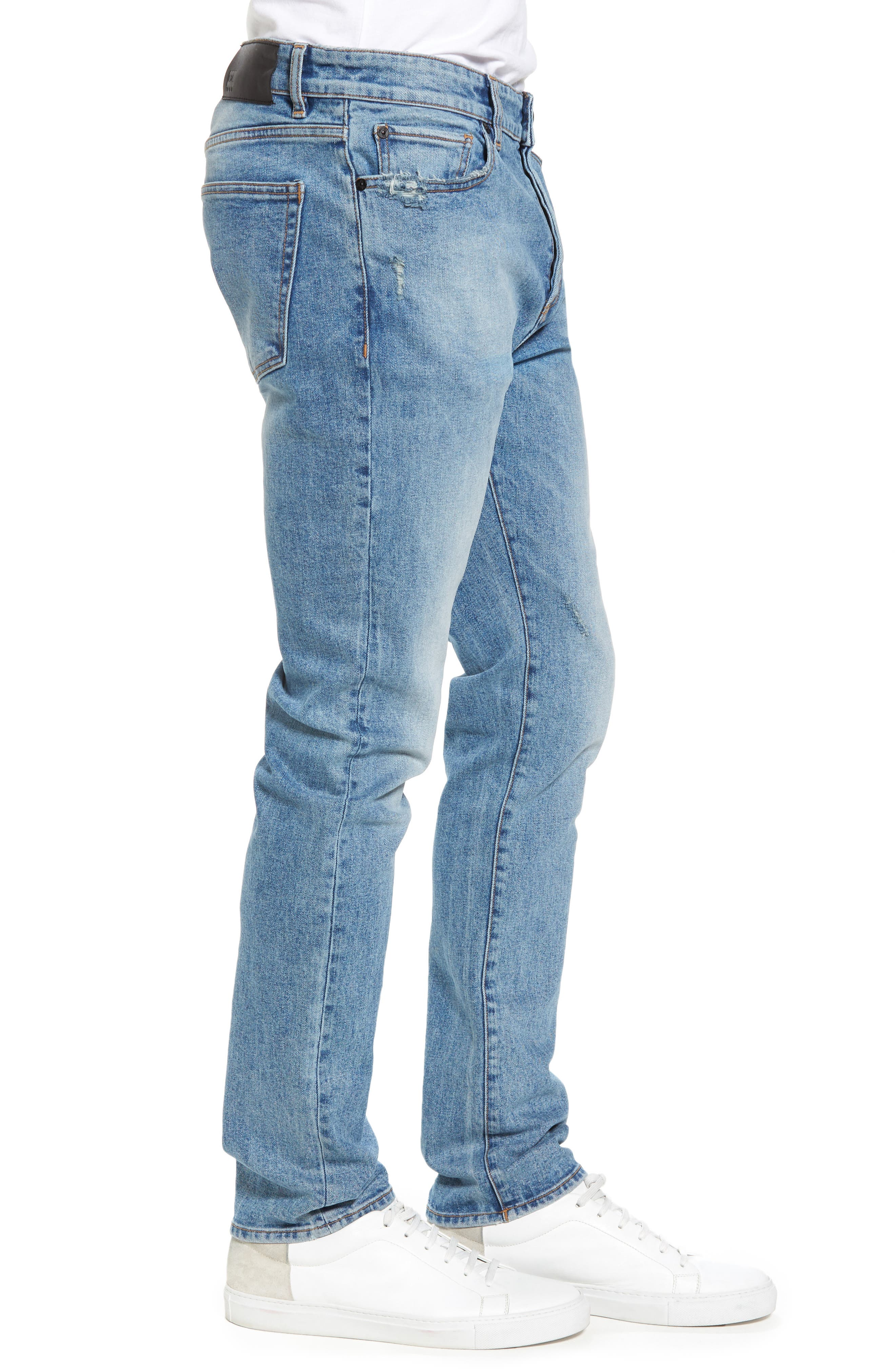 Cooper Slouchy Skinny Jeans,                             Alternate thumbnail 3, color,                             Breathe