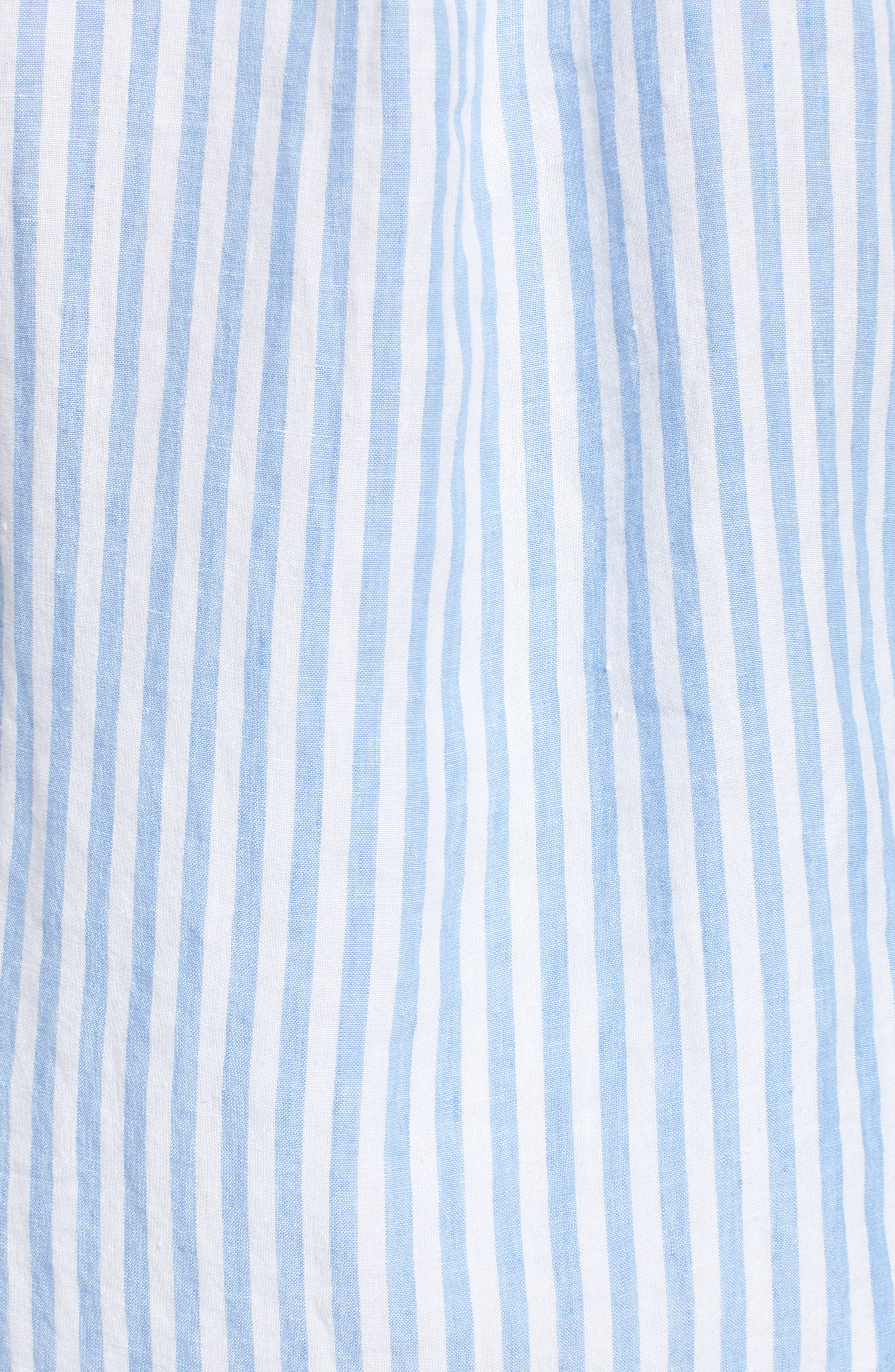 Cabana Stripe Button-Up Top,                             Alternate thumbnail 5, color,                             Dusty Lupine