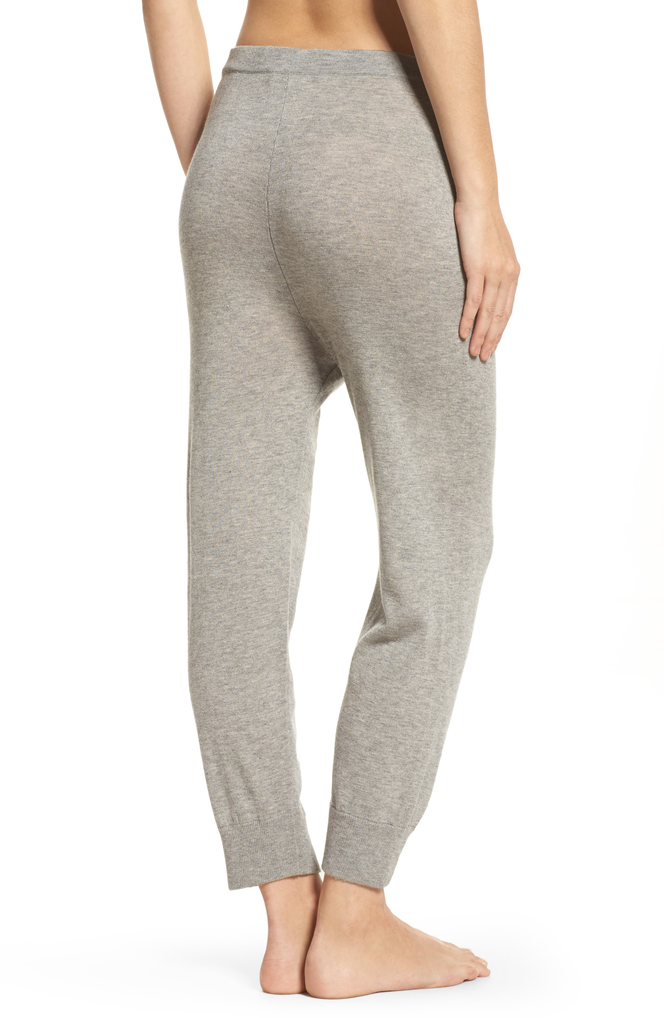 Myla Lounge Pants,                             Alternate thumbnail 2, color,                             Heather Grey