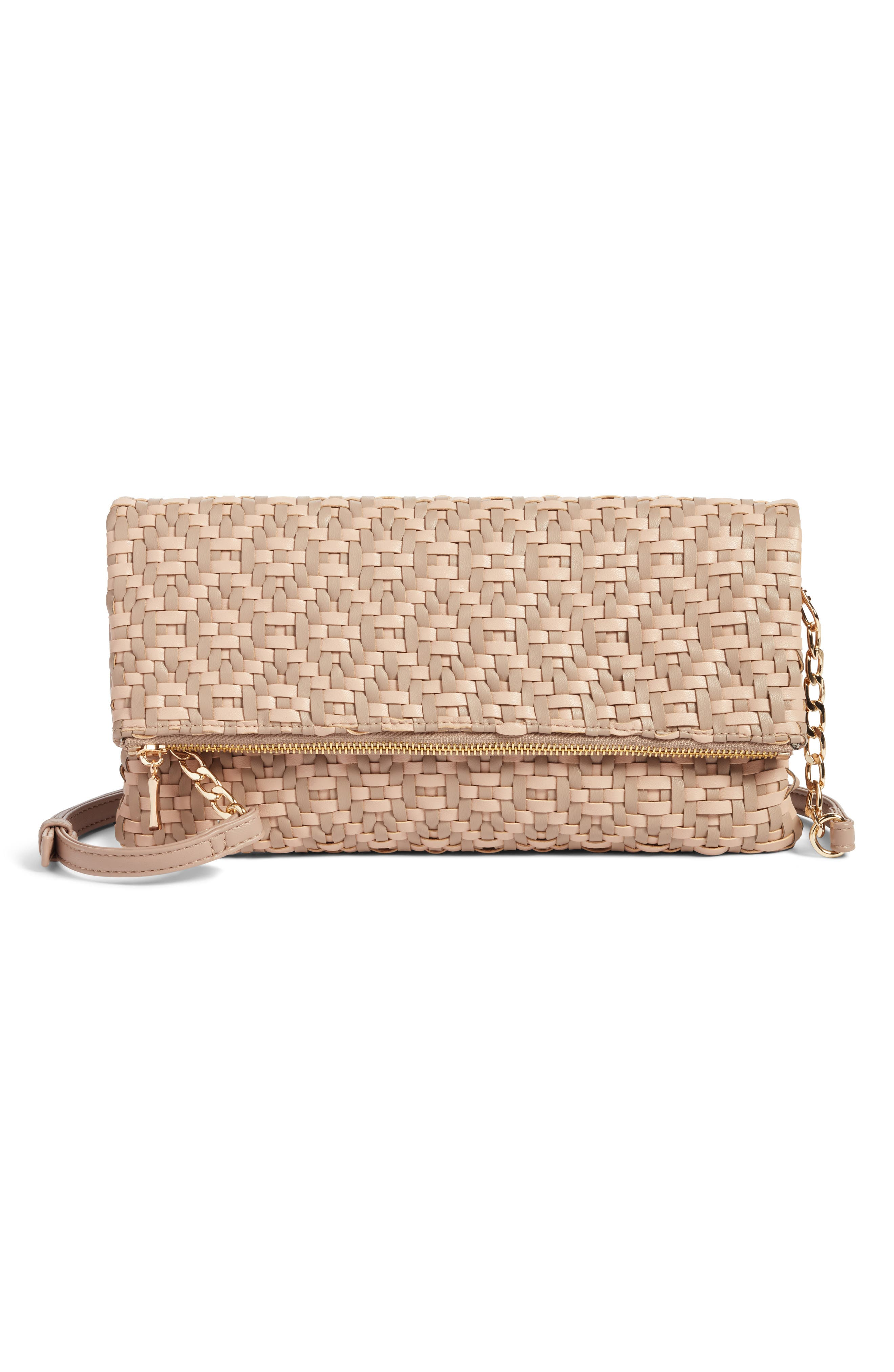 Alternate Image 1 Selected - Sole Society Lisbeth Weave Foldover Clutch