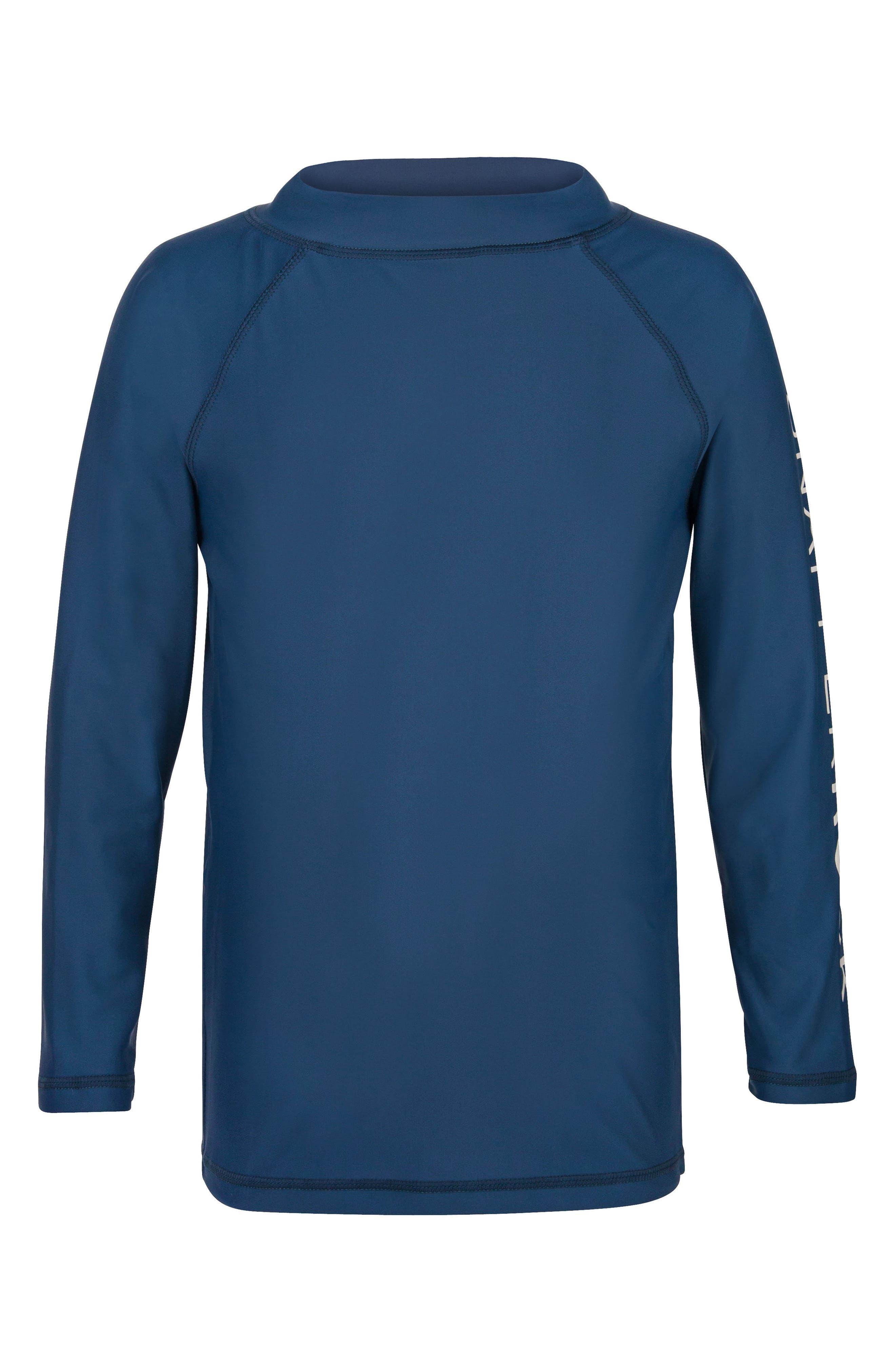 Raglan Long Sleeve Rashguard,                         Main,                         color, Denim