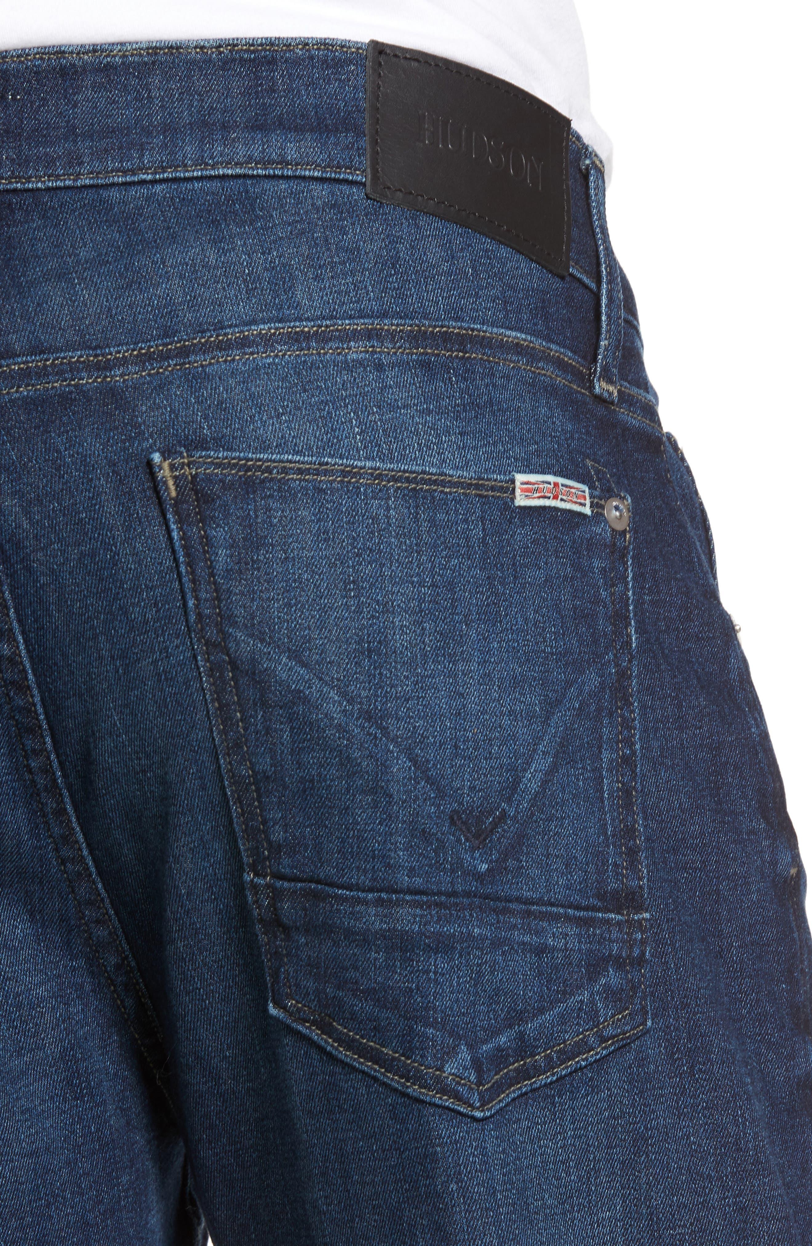Alternate Image 4  - Hudson Jeans Byron Slim Straight Fit Jeans (Draper)