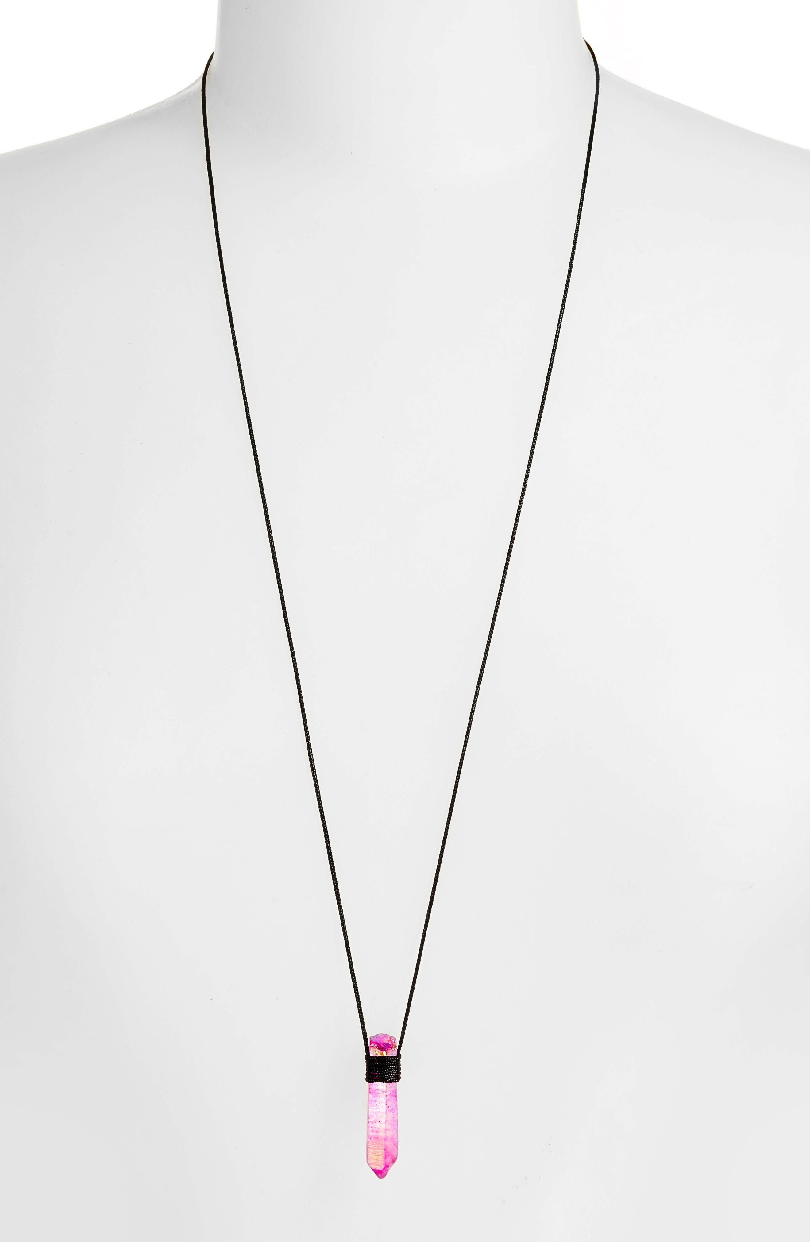 Alternate Image 2  - Tina Lilienthal Fuchsia Quartz Pendant Necklace